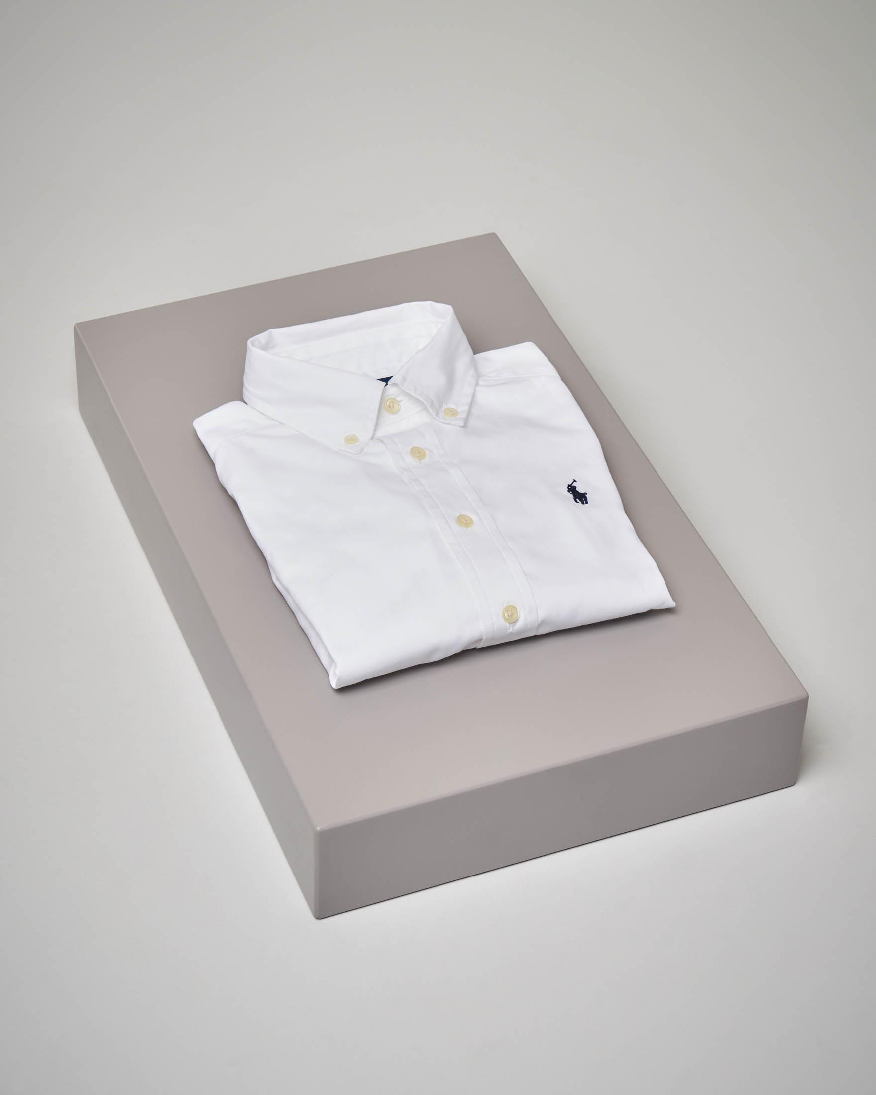 Camicia bianca in Oxford button-down 4-6 anni