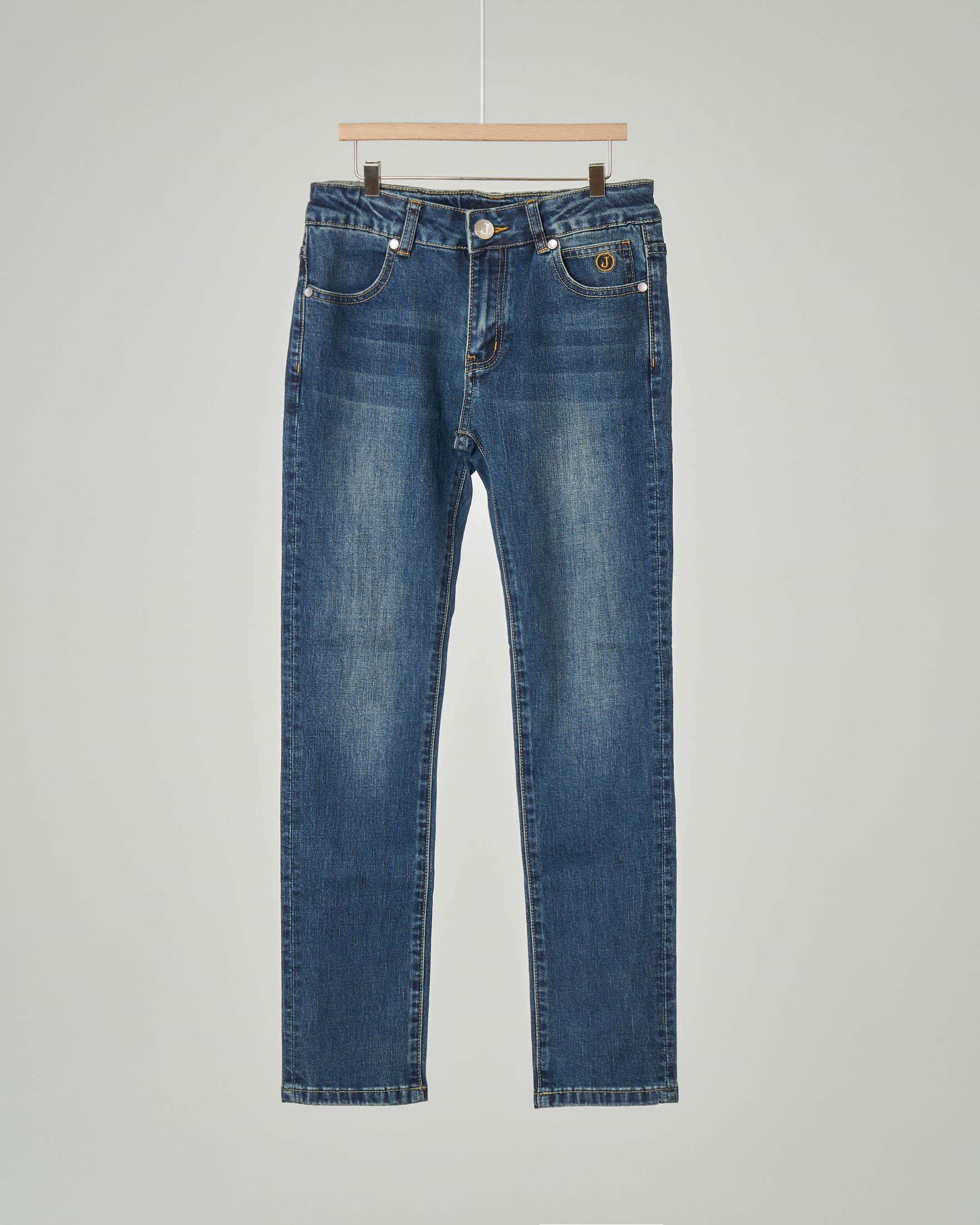 Jeans in cotone stretch lavaggio stone wash 8-18 anni