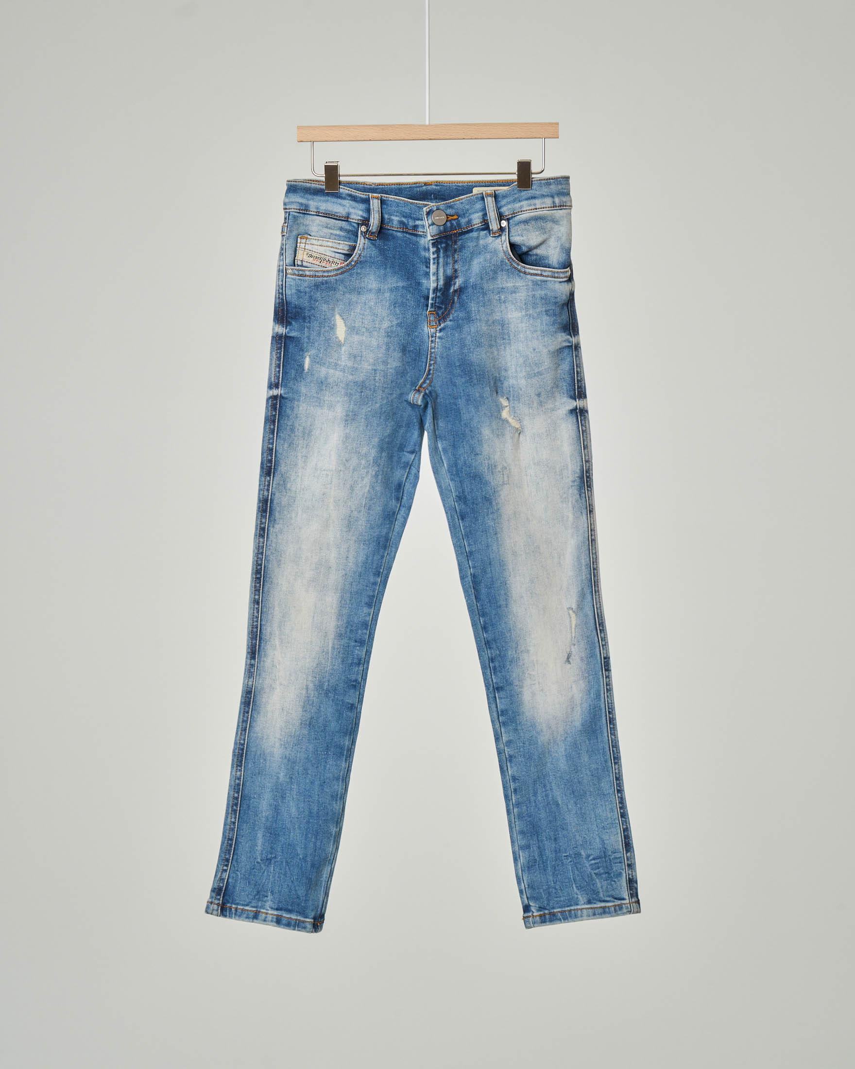 Jeans Babhila lavaggio super stone wash con abrasioni 8-16