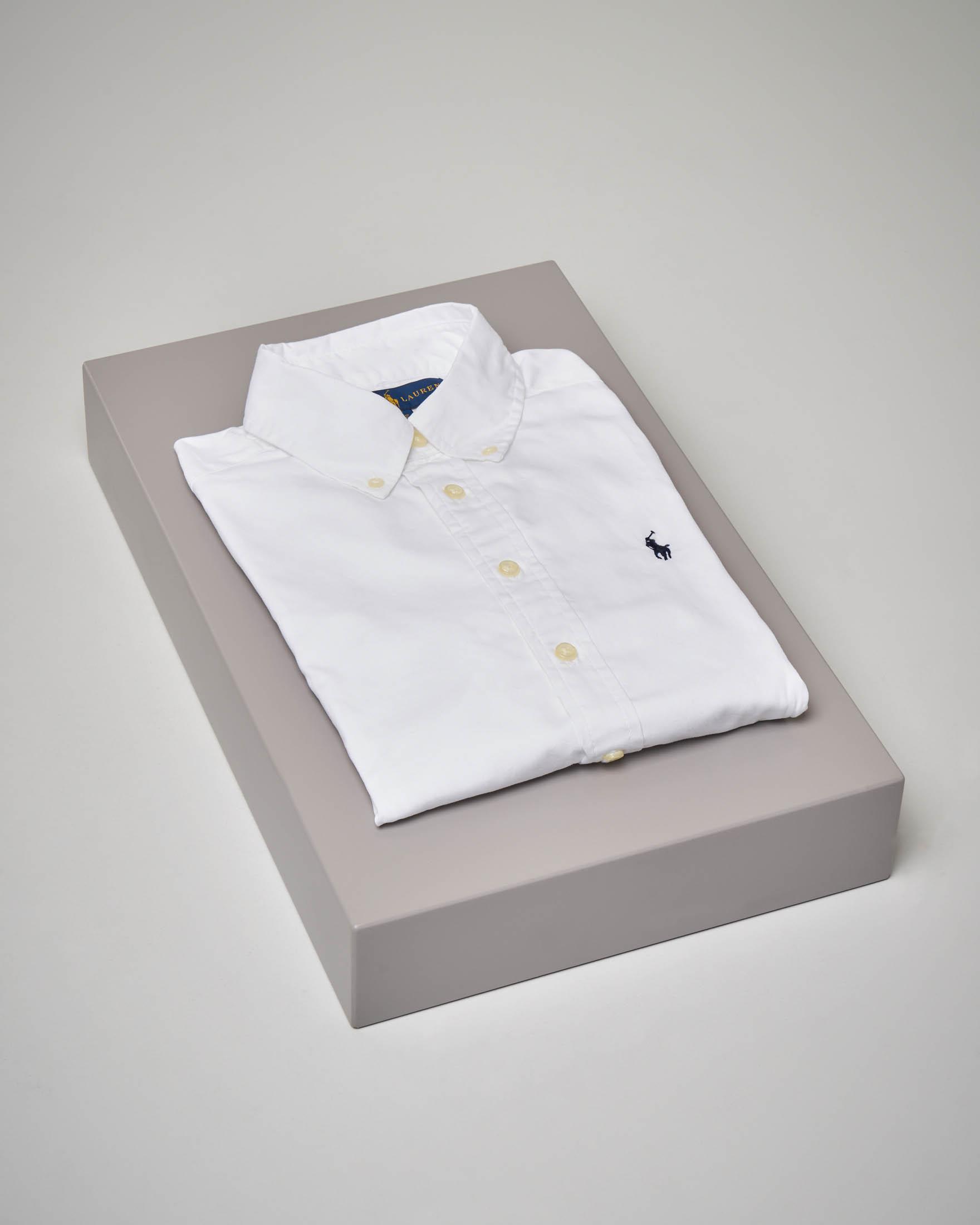 Camicia bianca in Oxford button-down 8-16 anni