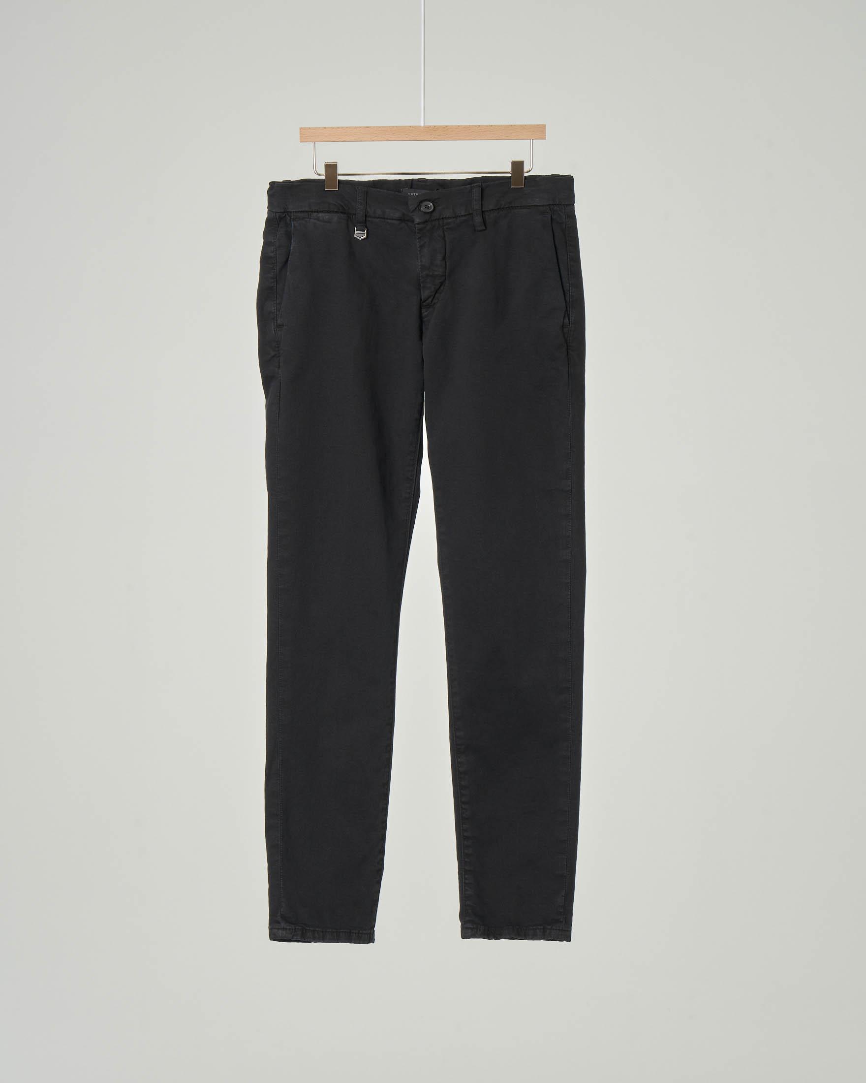 Pantalone chino nero in cotone stretch 10-16 anni