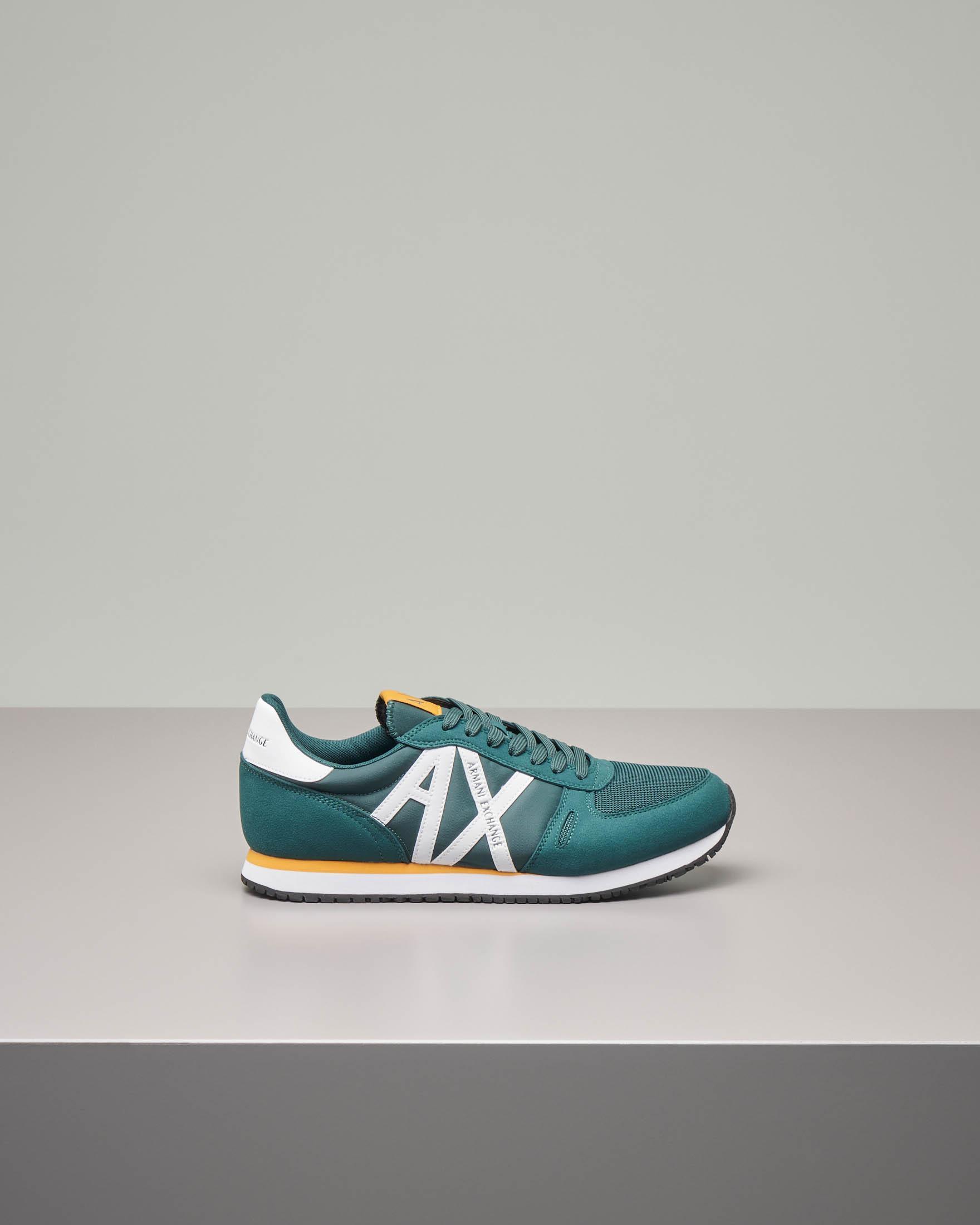 Sneakers verde con logo AX bianco