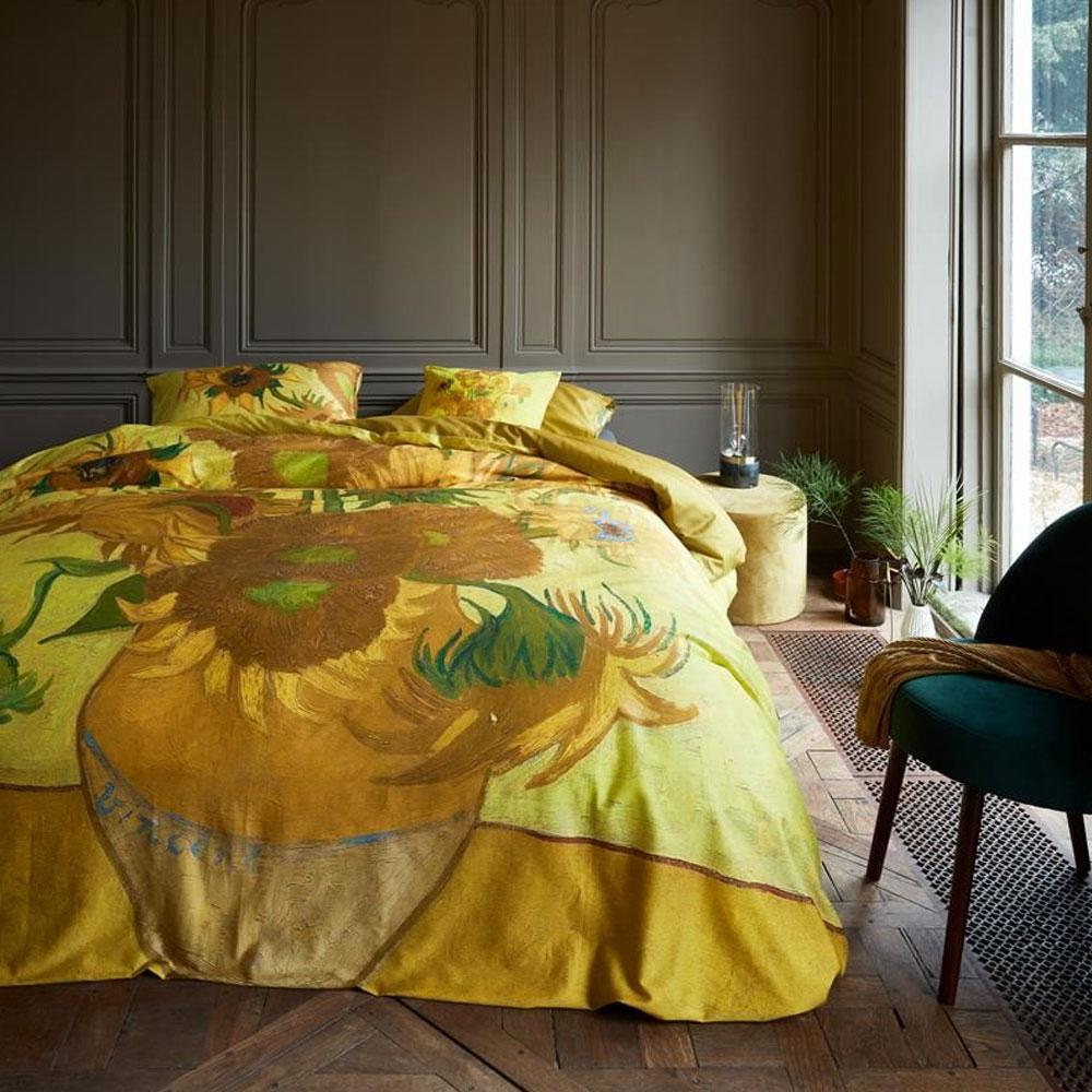 Copripiumino Van Gogh.Copripiumino Matrimoniale E Federe Bedding House Van Gogh Girasoli