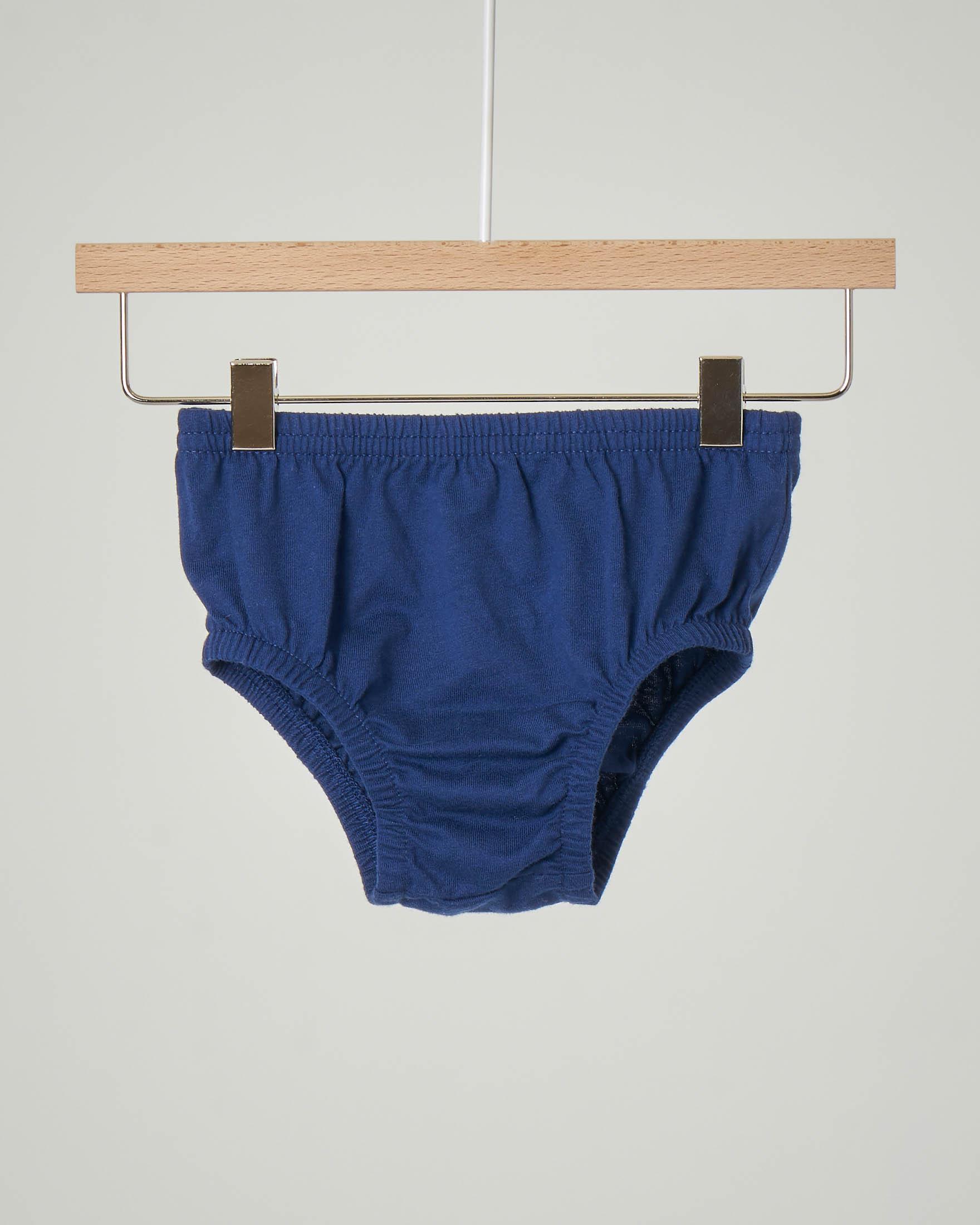 Abito in felpa grigio con logo grafico a cuore e culotte blu abbinata 6-36 mesi