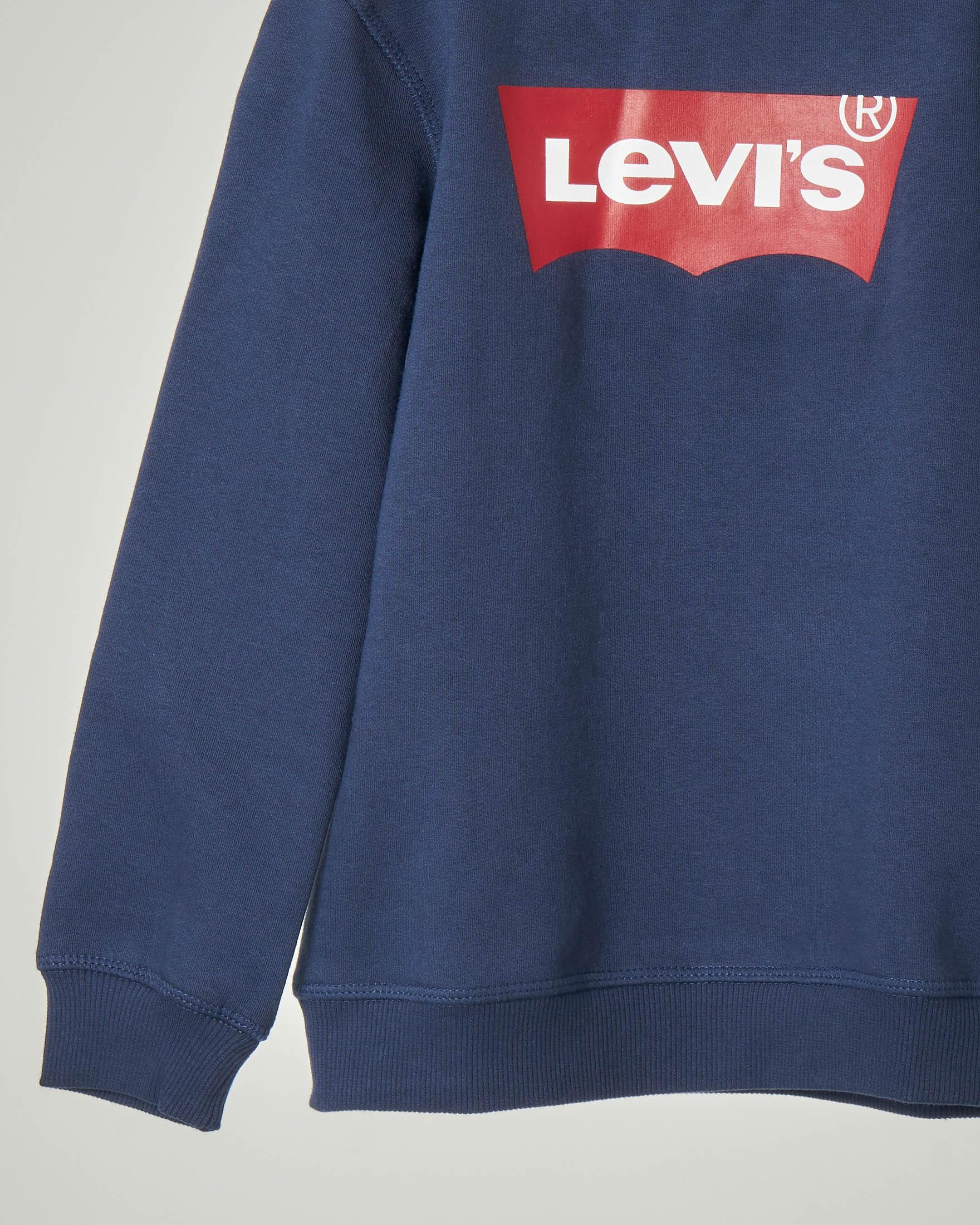 Felpa girocollo bambino Levi's blu