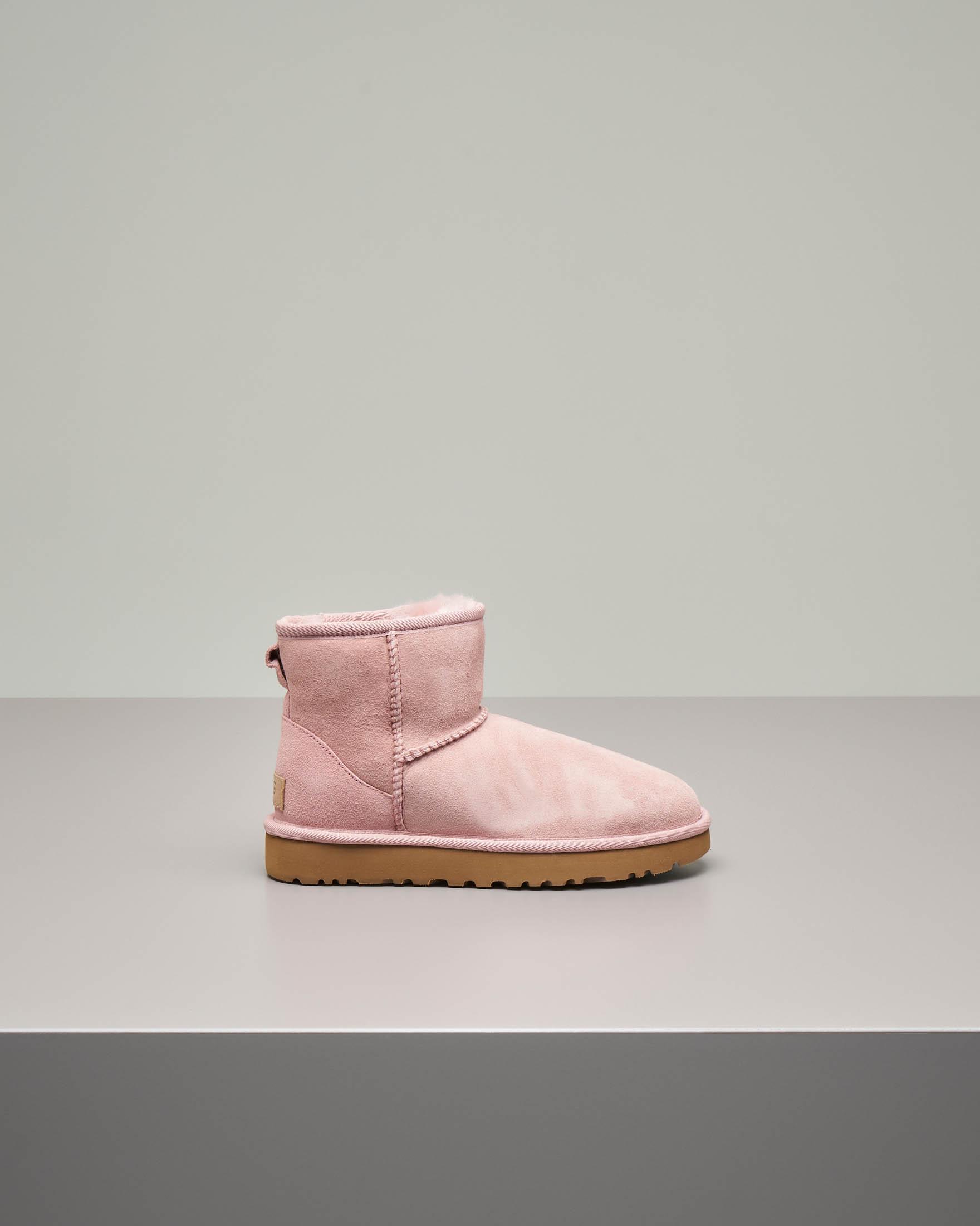 Mini stivale in montone colore rosa