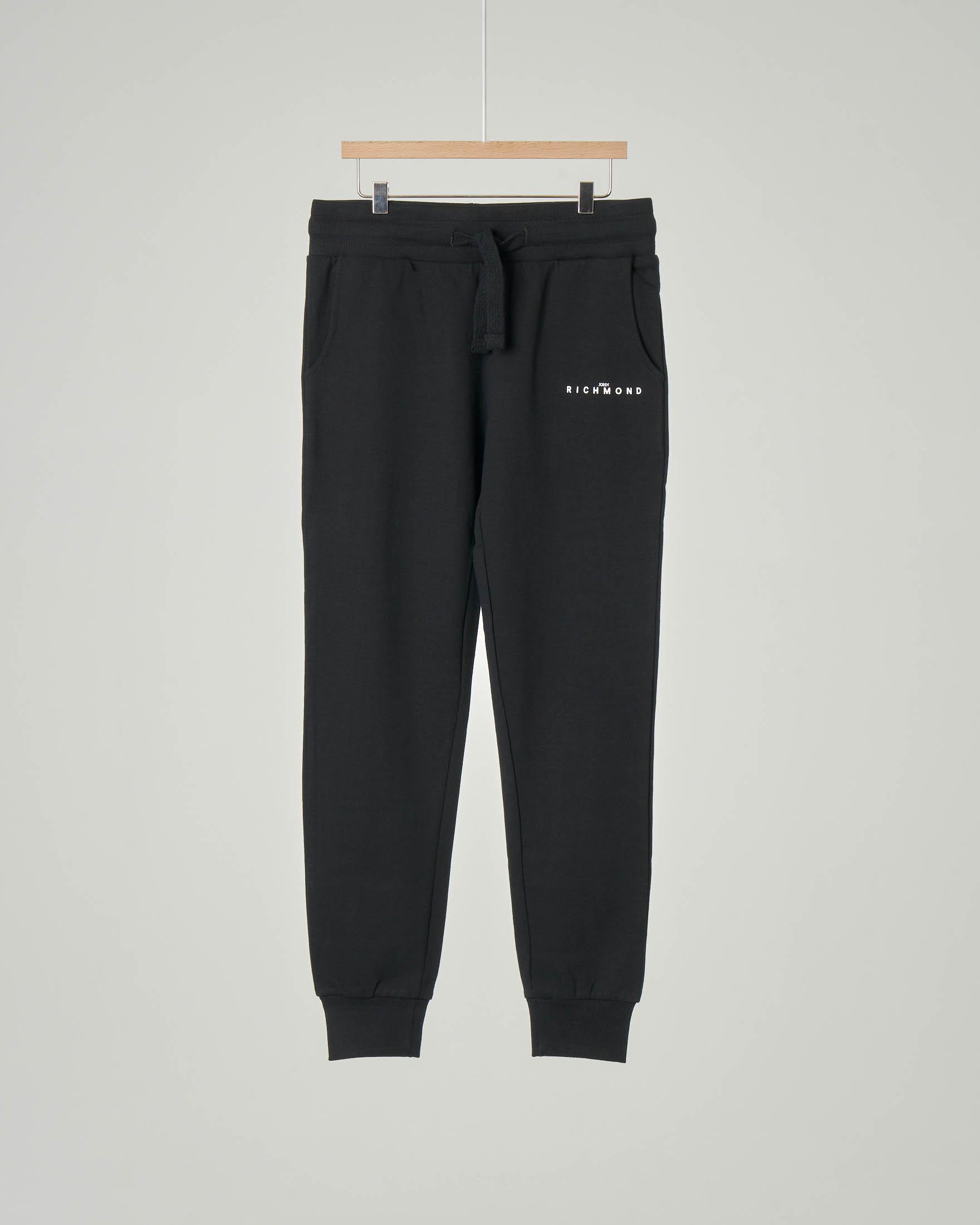 Pantalone nero in felpa con scritta RICH bianca sul retro 10-16 anni