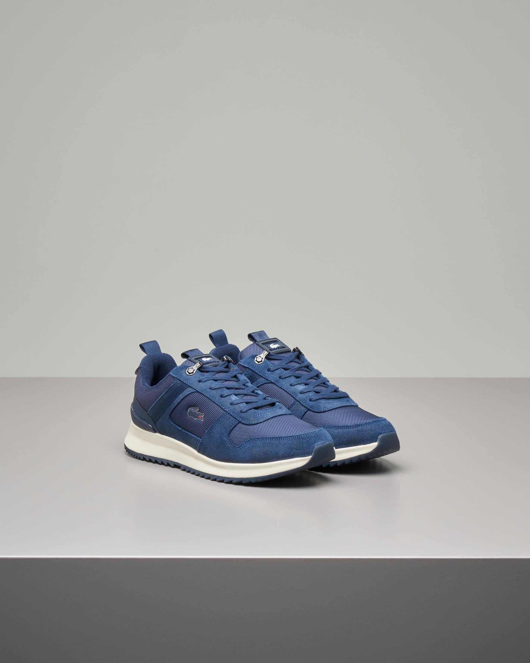Sneakers blu in pelle scamosciata e tessuto Joggeur 2.0