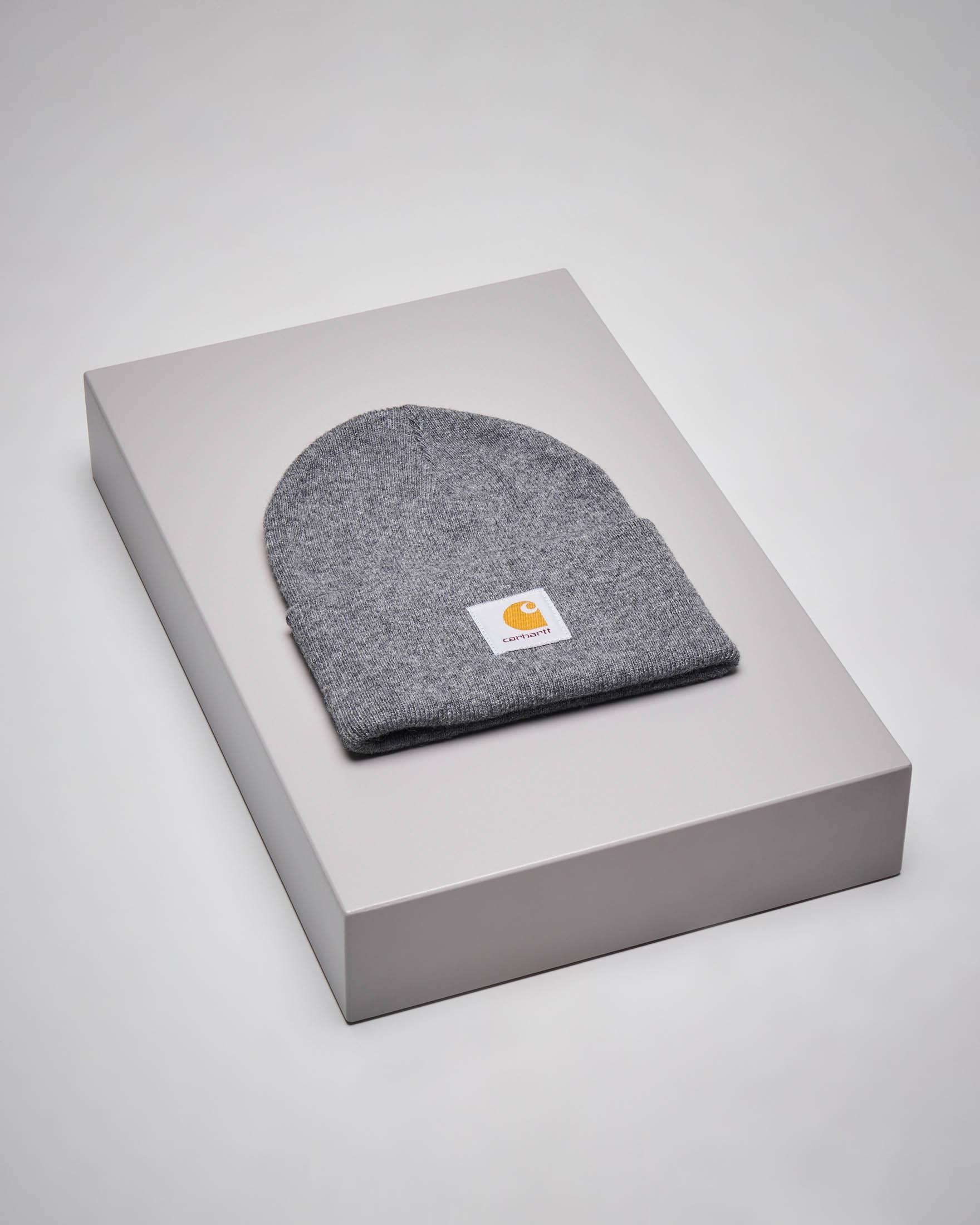 Berretto Acrylic Watch Hat grigio melange con logo