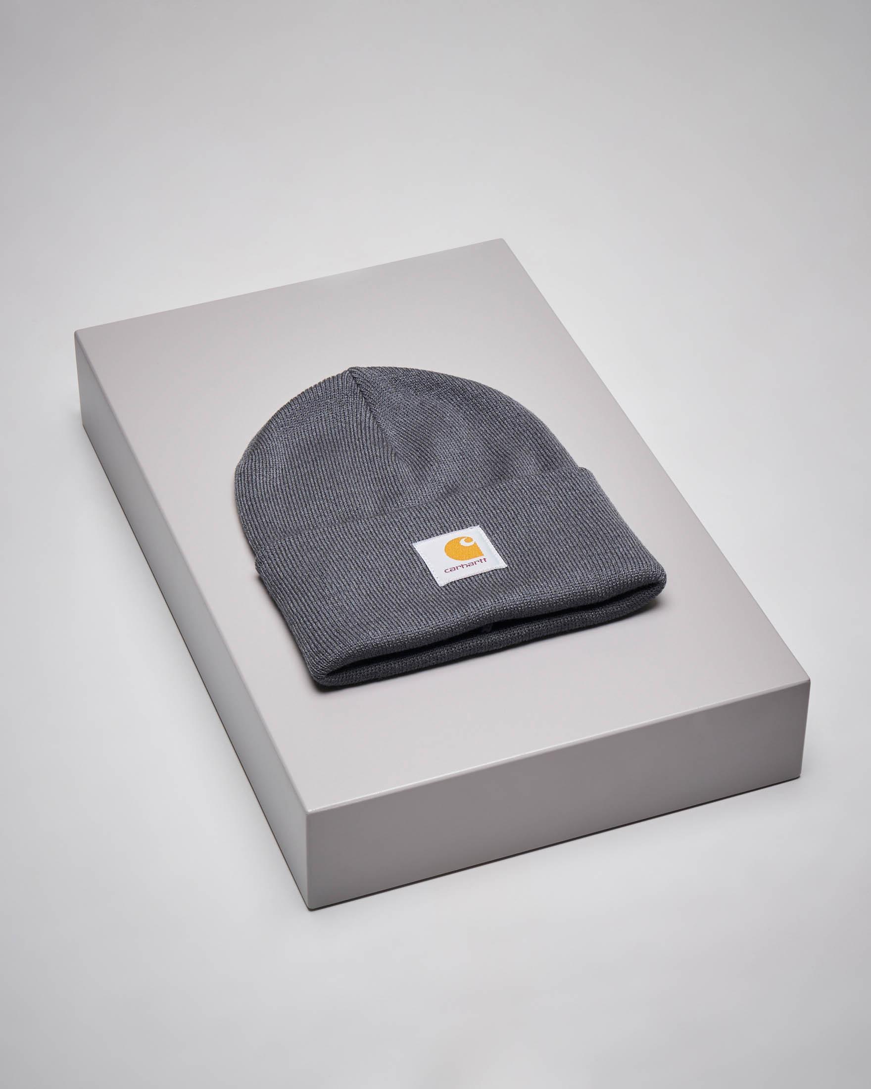 Berretto Acrylic Watch Hat antracite con logo