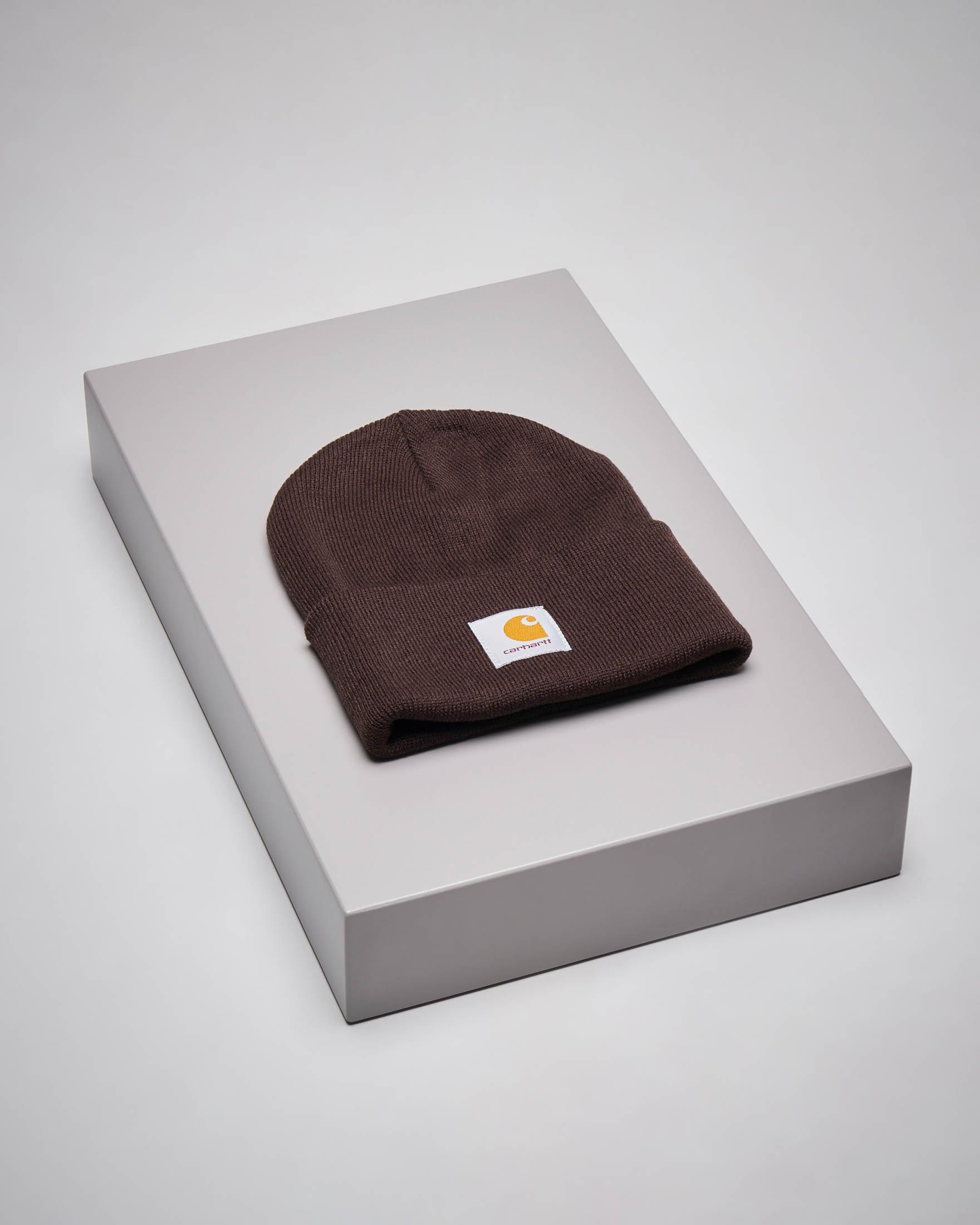 Berretto Acrylic Watch Hat marrone con logo