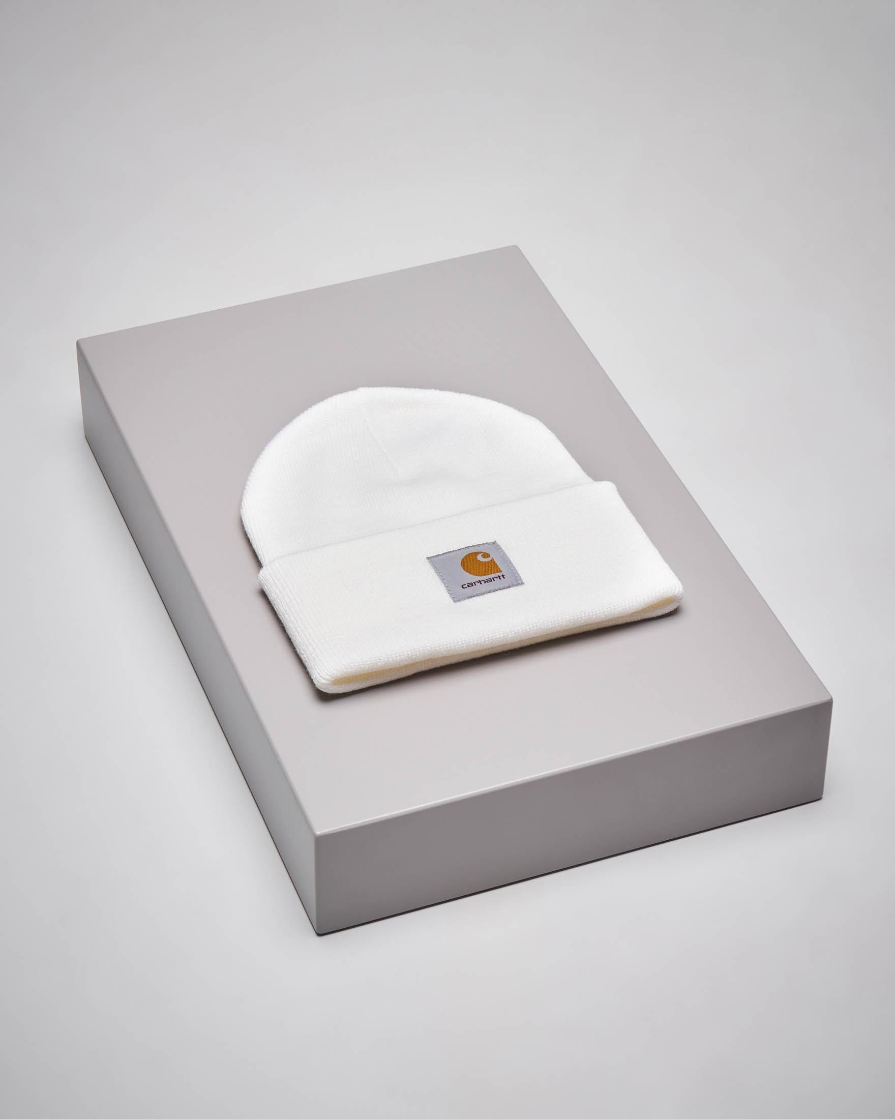 Berretto Acrylic Watch Hat bianco con logo