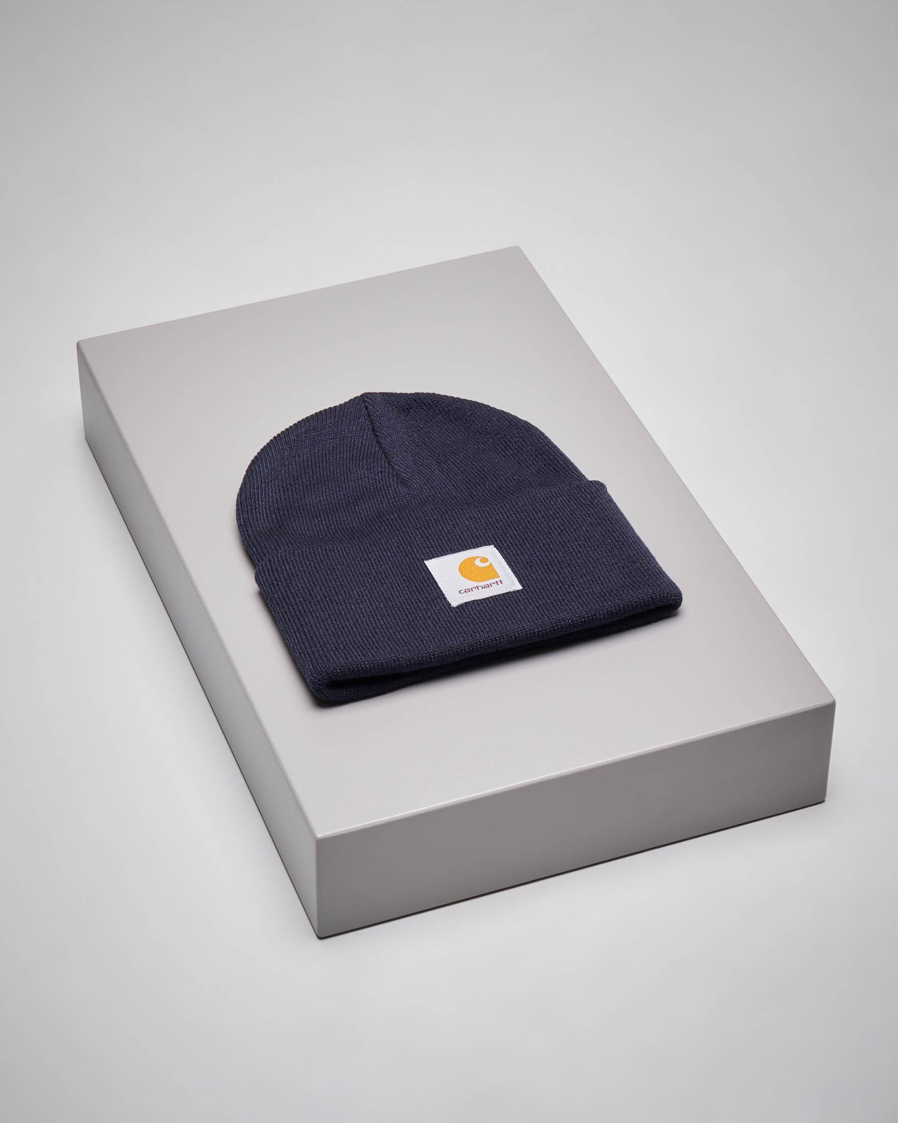 Berretto Acrylic Watch Hat blu con logo