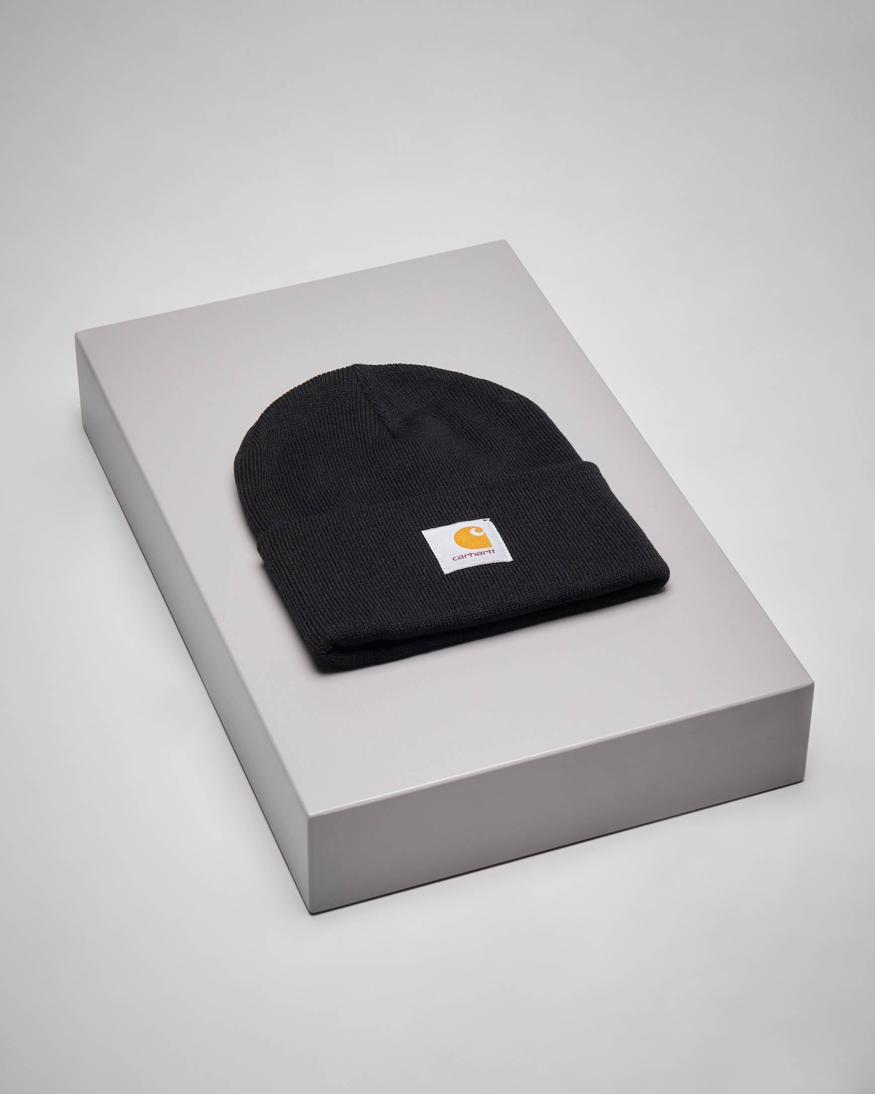 Berretto Acrylic Watch Hat nero con logo