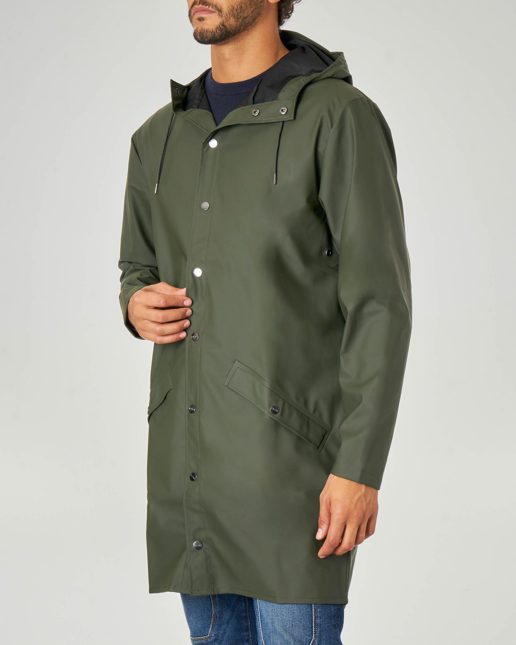 Impermeabile Long Jacket verde