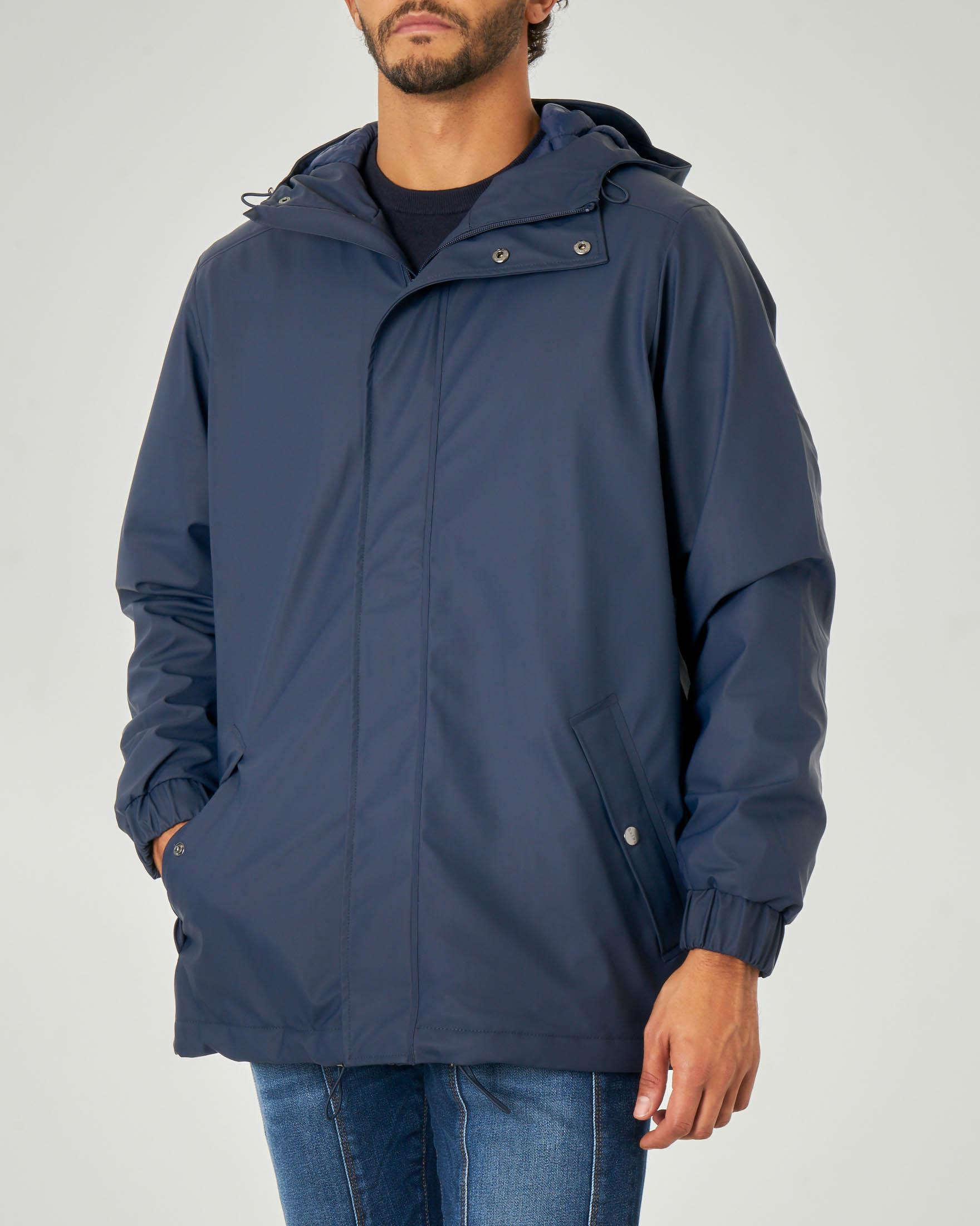 Quilted Parka blu
