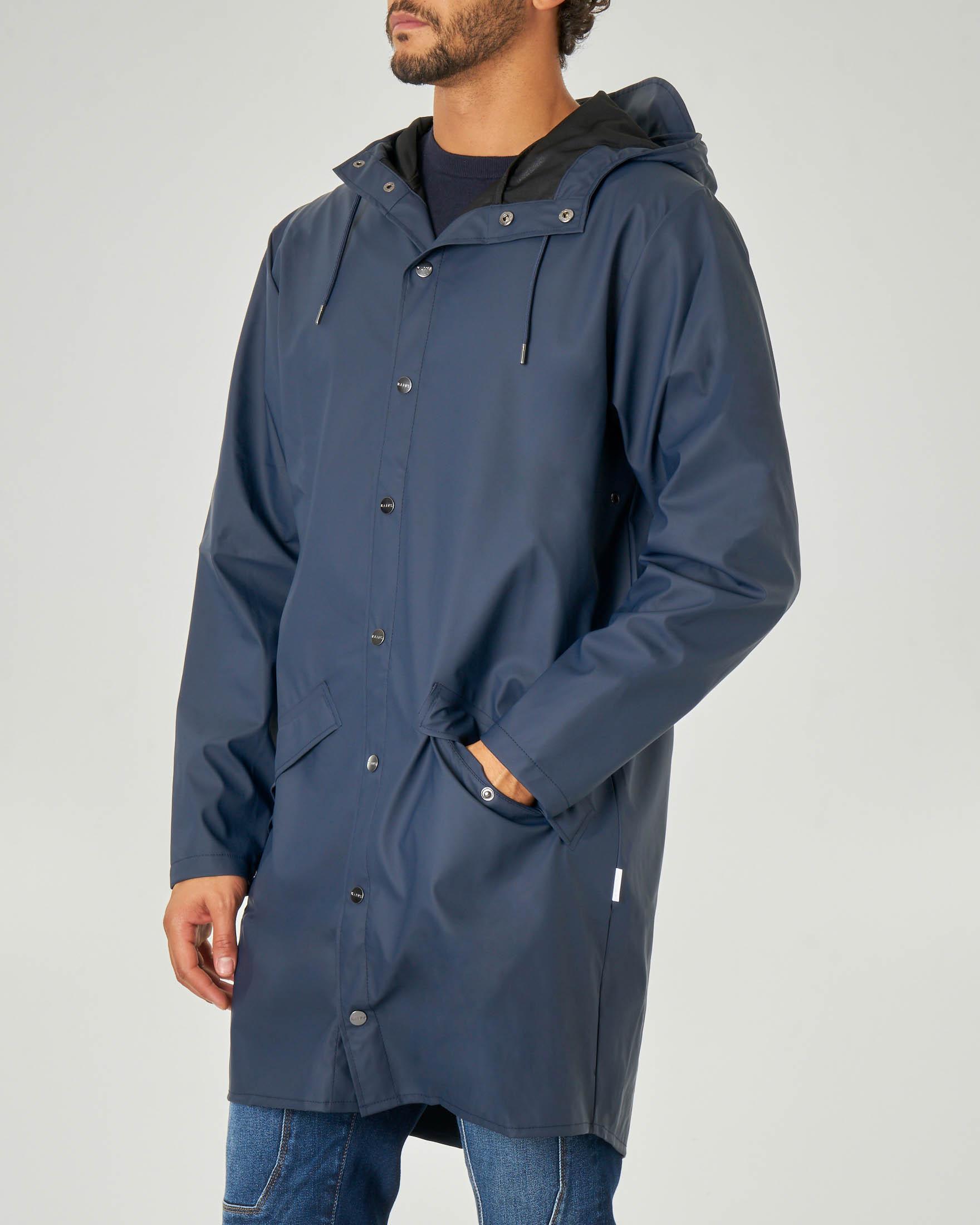 Impermeabile Long Jacket blu