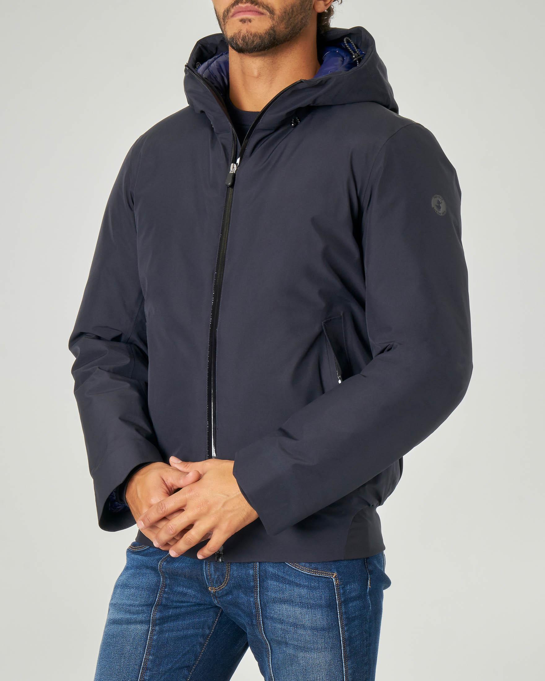 Giacca blu in Goretex® con cappuccio