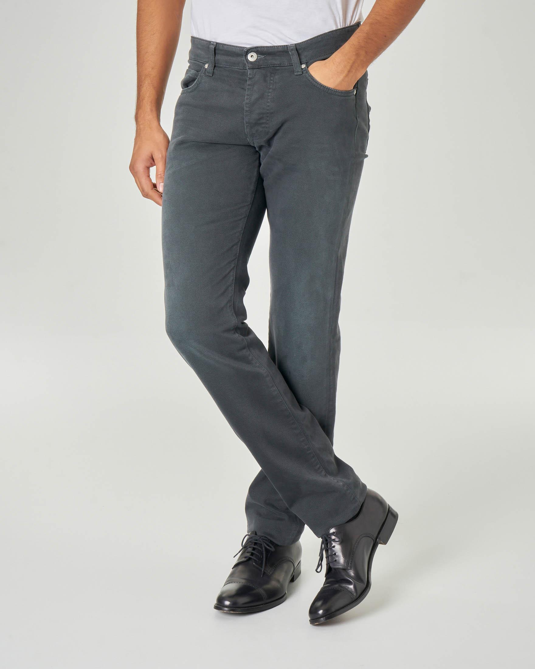 Pantalone cinque tasche grigio antracite