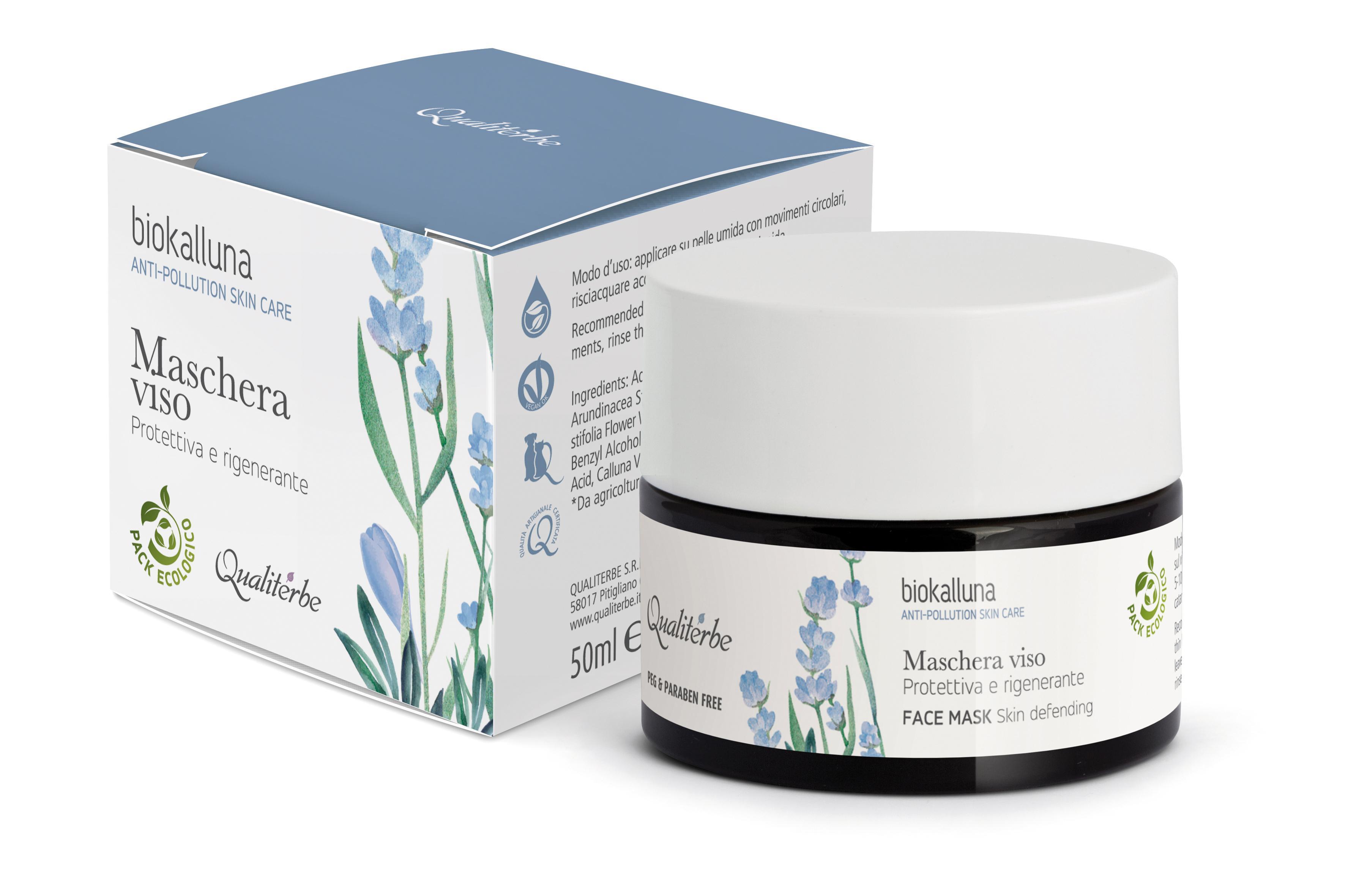Maschera Viso 50 ml Protettiva e Rigenerante Anti-Pollution Biokalluna