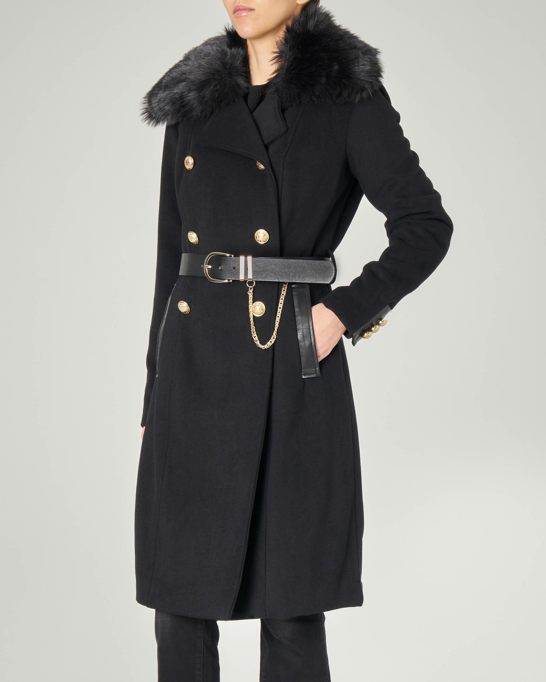 pellizzari cappotto nero patrizia pepe