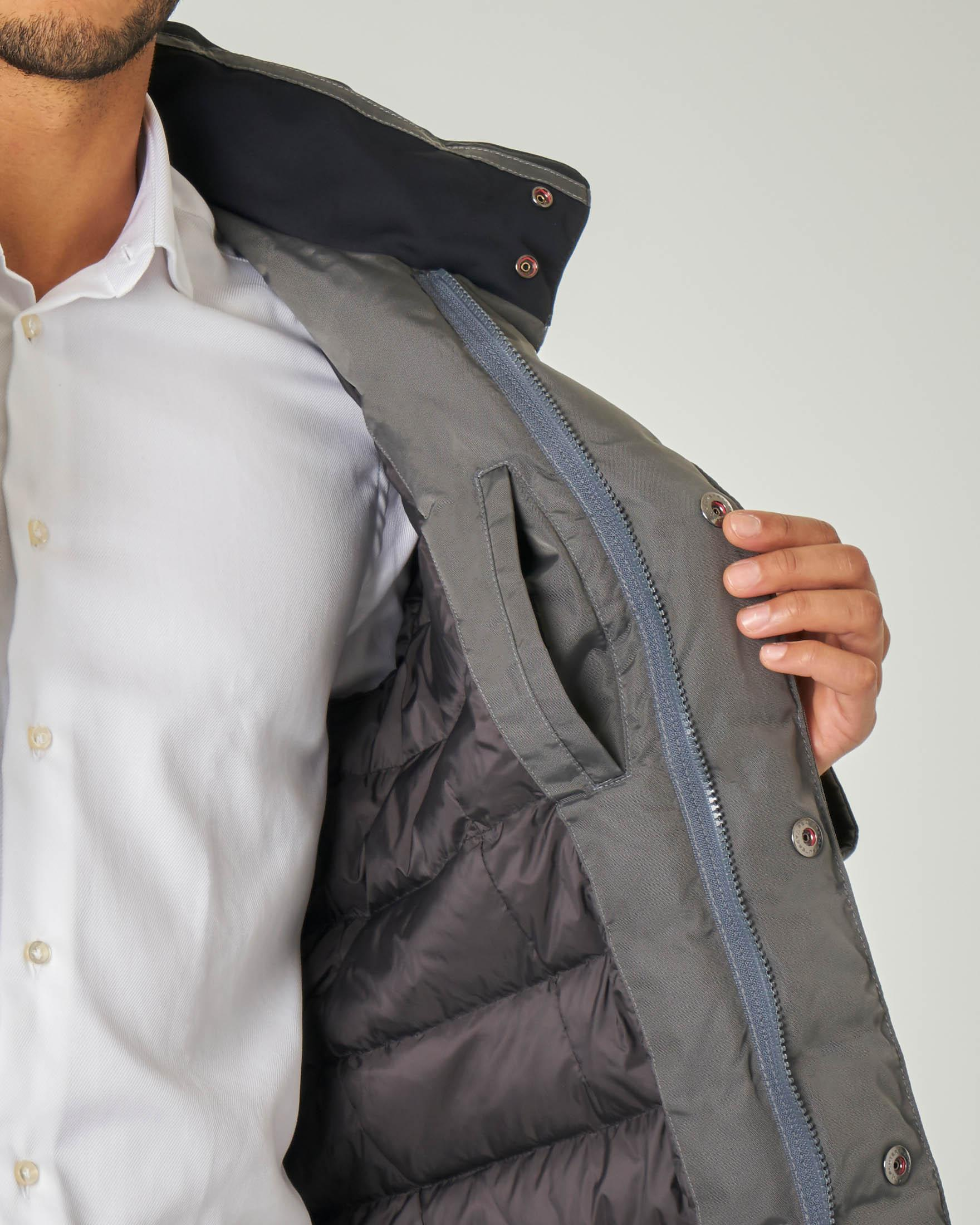 Field Jacket Stripes grigia in tessuto oxford tecnico