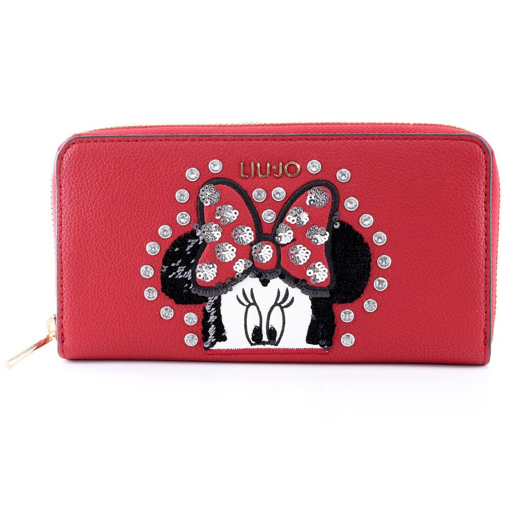 Portafogli donna Liu Jo MOUSE HAPPY NA0260 E0054 FEEL ROUGE