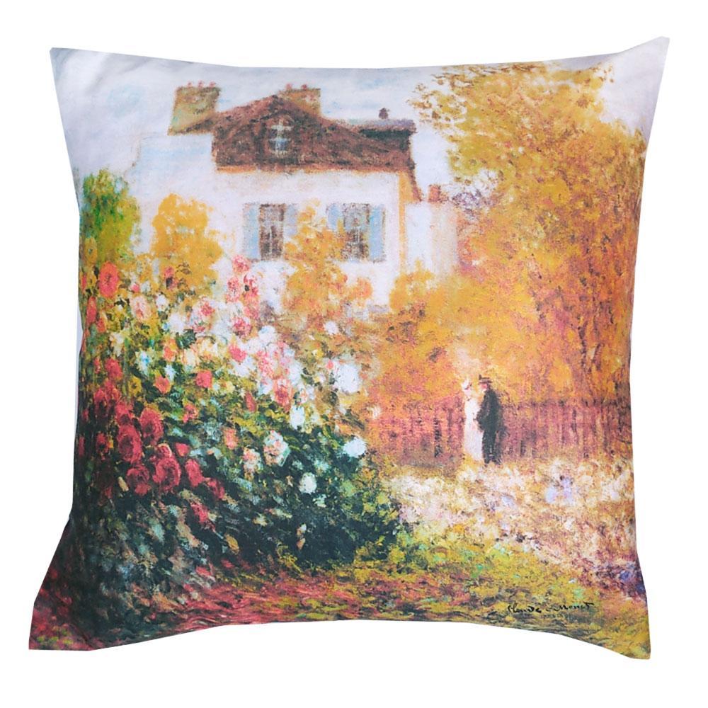 Cuscini D Autore.Cuscino Arredo Randi 40x40 Quadri D Autore Giardino D Artista Monet