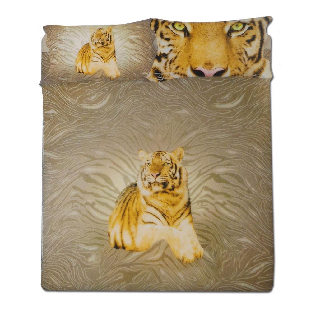 Sacco Copripiumino Matrimoniale Gabel.Copripiumino Matrimoniale Completo 2 Piazze Gabel Tiger Oro In Cotone