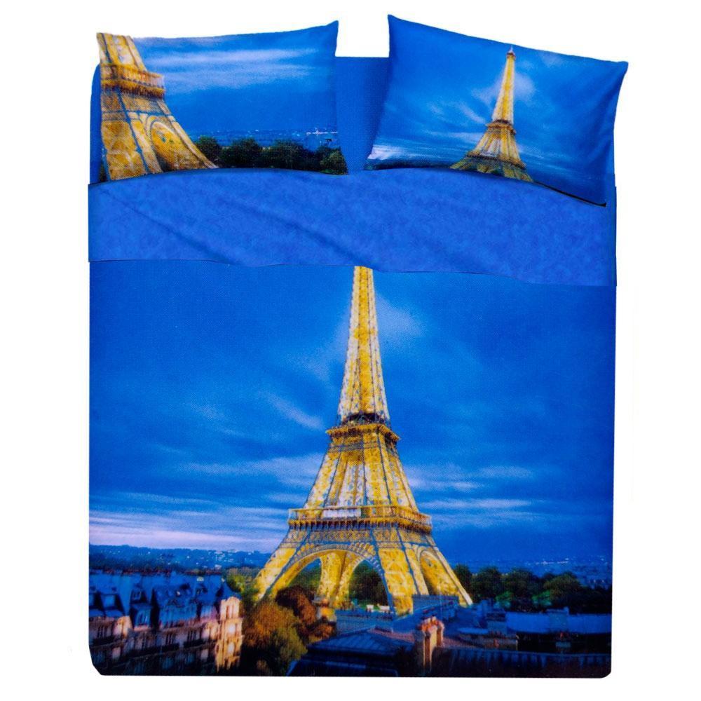 Copripiumino Singolo Parigi.Lenzuolo Copriletto Piazza E Mezza Completo Bassetti Parigi Turchese