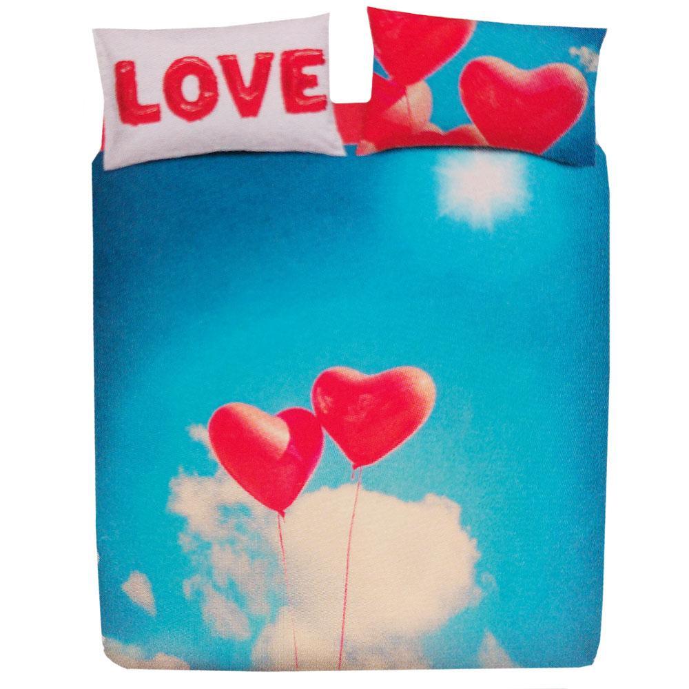 Copripiumino San Valentino.Set Copripiumino Bassetti Fly With Me Cuori Regalo San Valentino