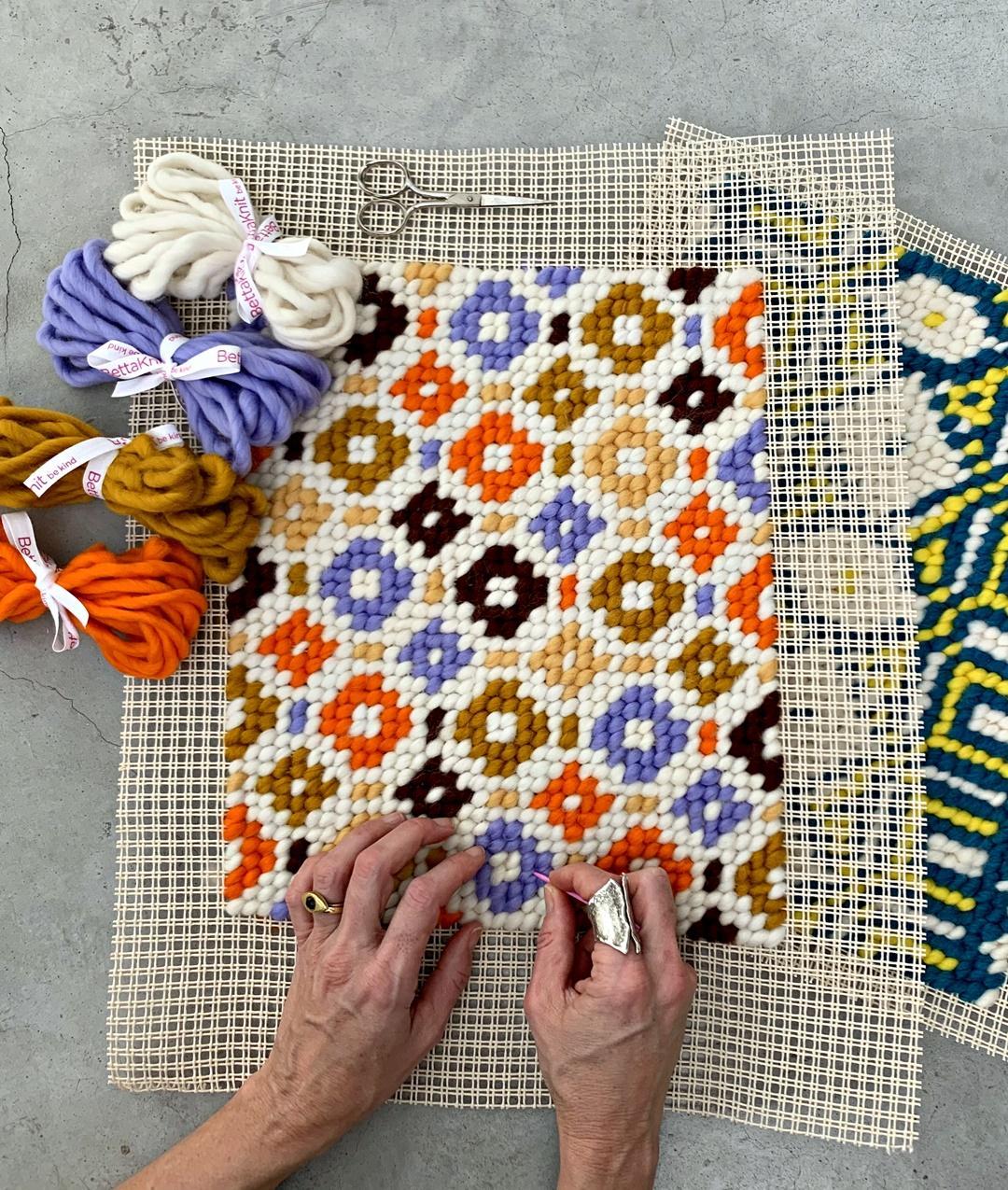 Cose Creative Con La Carta positano - petit point embroidery kit