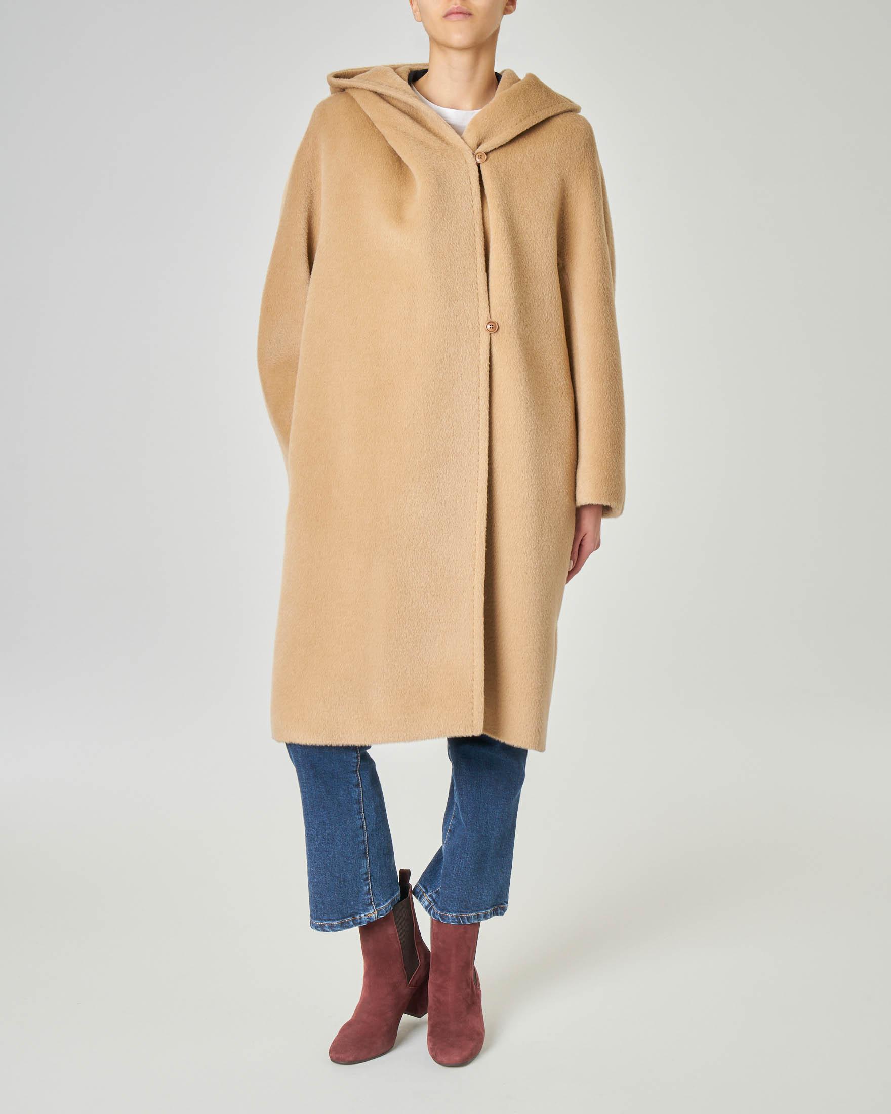 Dettagli su cappotto cappottino elegante donna sciancrato grigio cintura pelo collo 1118