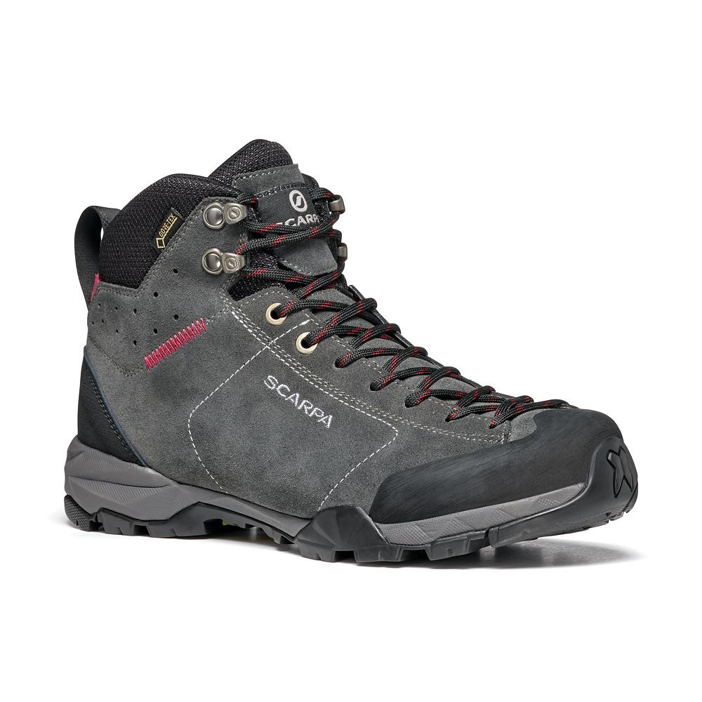 MOJITO HIKE GTX WOMAN   -   Fast hikes on mixed terrains, waterproof   -   Shark-Red Rose / Last Medium
