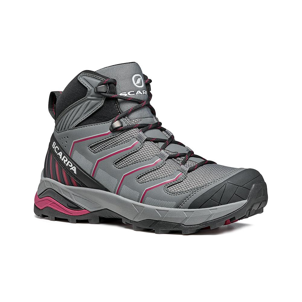 MAVERICK MID GTX  WOMAN -   Fast hikes on mixed terrains, waterproof, lighweight   -  Gray-Plum