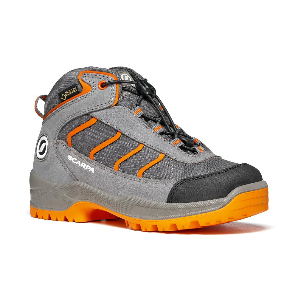 MISTRAL KID GTX   -   Trekking on trails and forests, waterproof   -   Gray-Orange