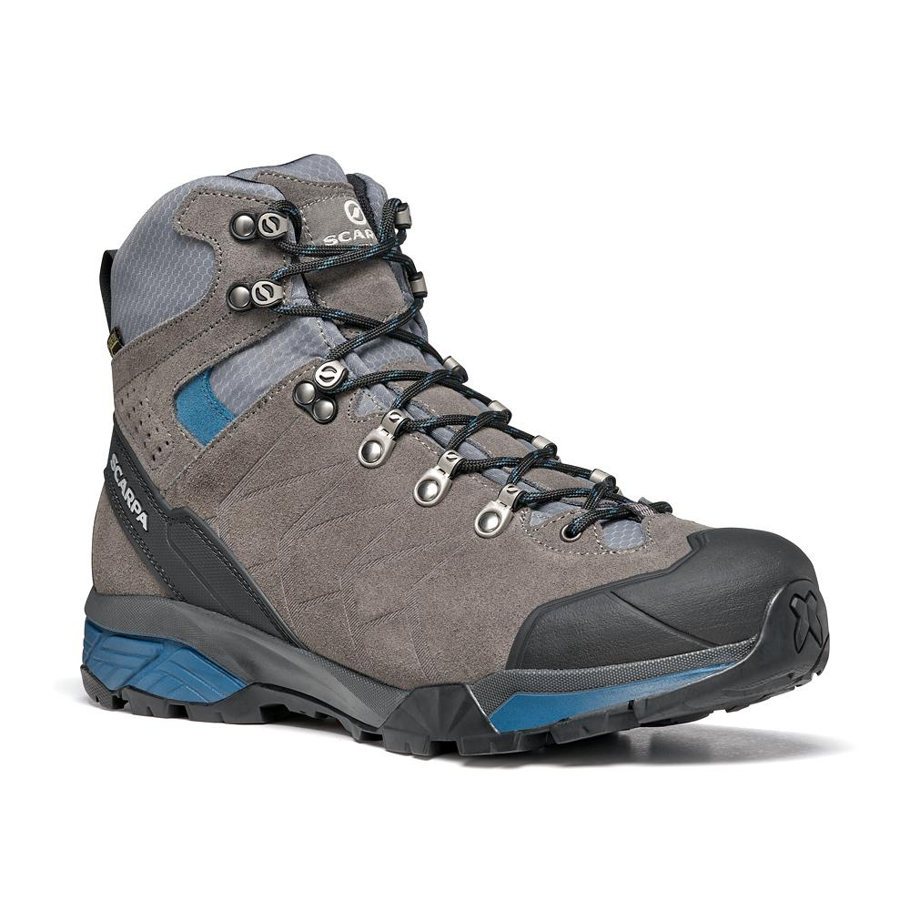 ZG TREK GTX   -   For moving fast on alpine hikes, waterproof   -   Titanium-Lake Blue / Last Medium
