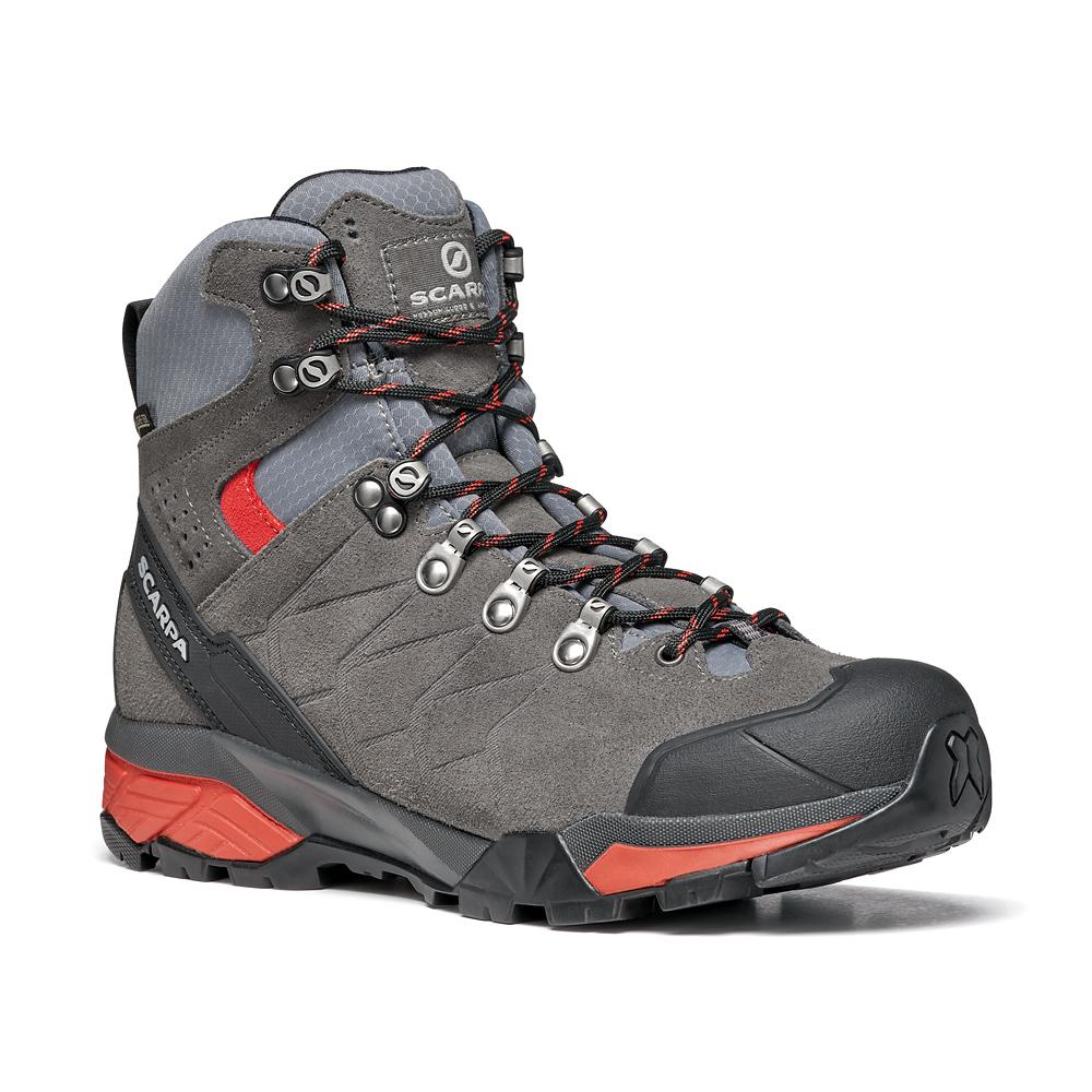 ZG TREK GTX WMN   -   For moving fast on alpine hikes, waterproof   -   Titanium-Red Ibiscus