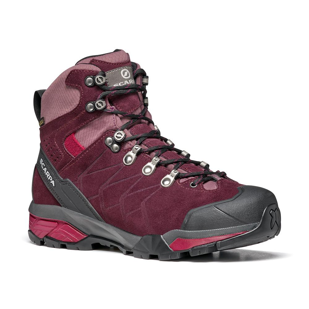 ZG TREK GTX WMN   -   For moving fast on alpine hikes, waterproof   -   Temeraire-Red Plum / Last Medium