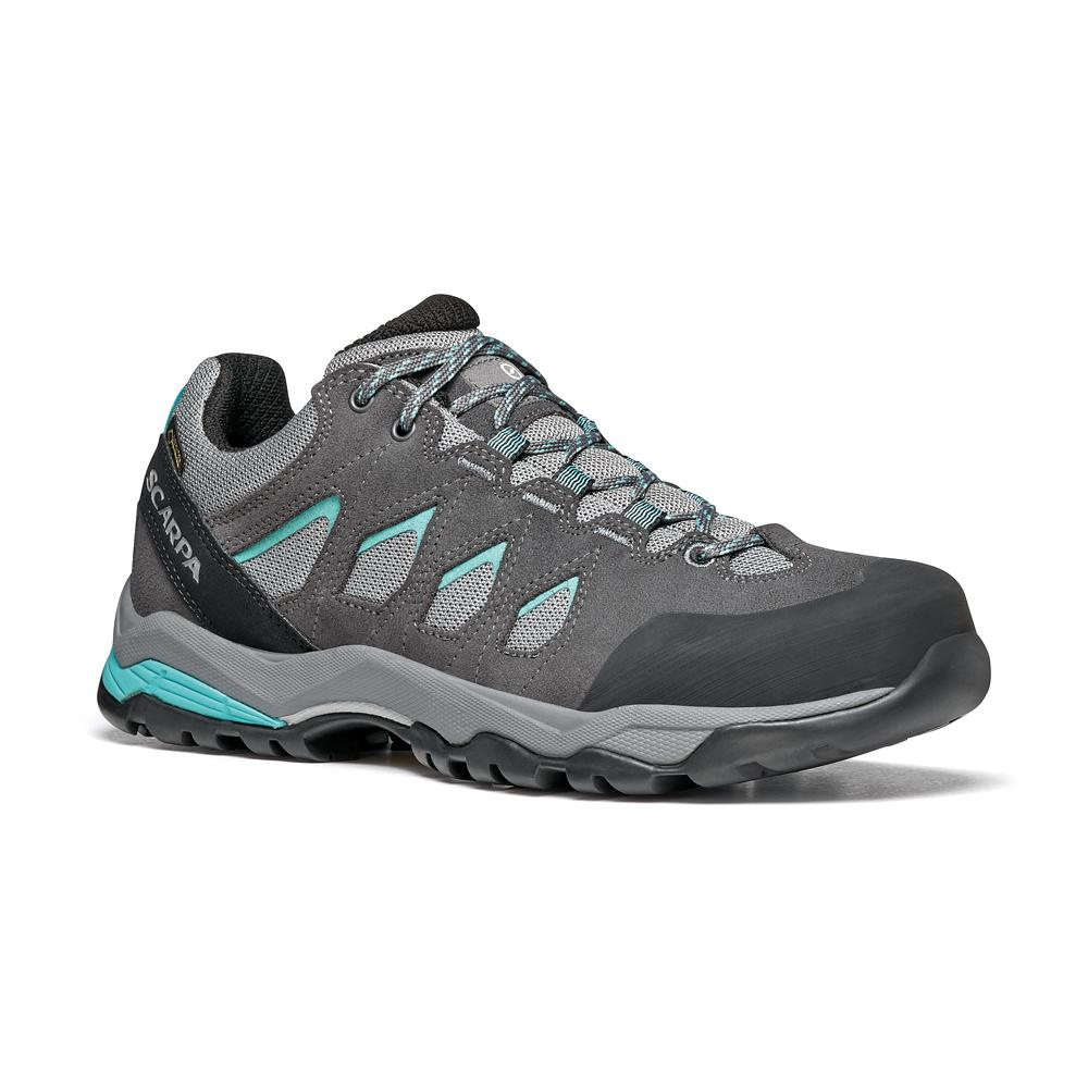 MORAINE GTX WMN   -   Protective for hiking on mixed terrains, waterproof   -   Midgray-Storm Gray-Lagoon Green