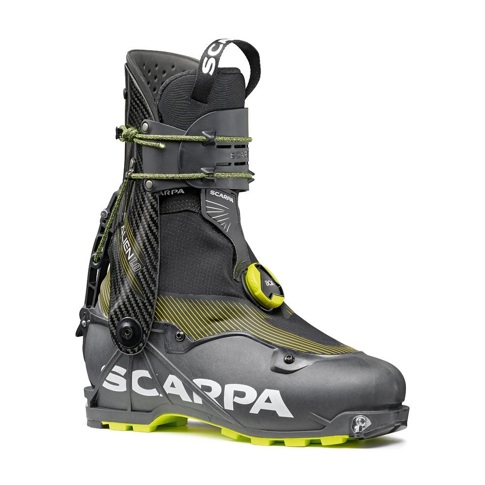 ALIEN 1.0   -   State of the art of the ski mountaineering race boots   -   Carbon Grilamid LFT Black