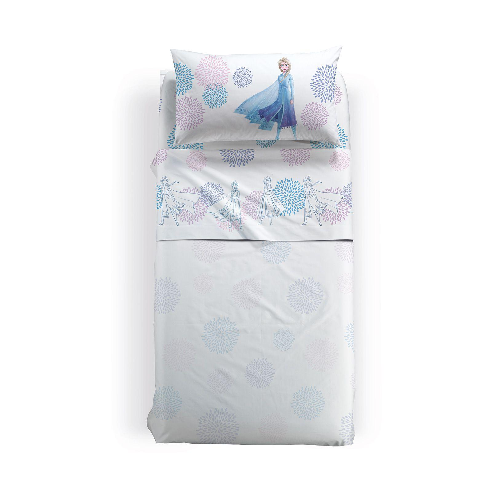Lenzuola Matrimoniali Disney.Frozen Sheet Set Elsa Blu Caleffi Square And Half Disney