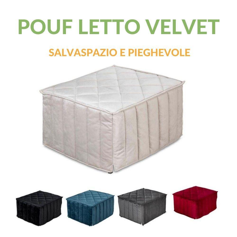 Letti Per Ospiti Salvaspazio pouf letto da seduta apribile con materasso singolo