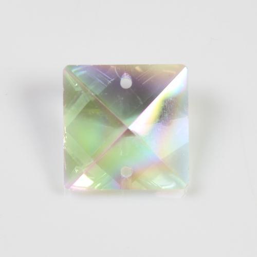 Quadruccio 22 mm aurora boreale cristallo vetro sfaccettato 2 fori