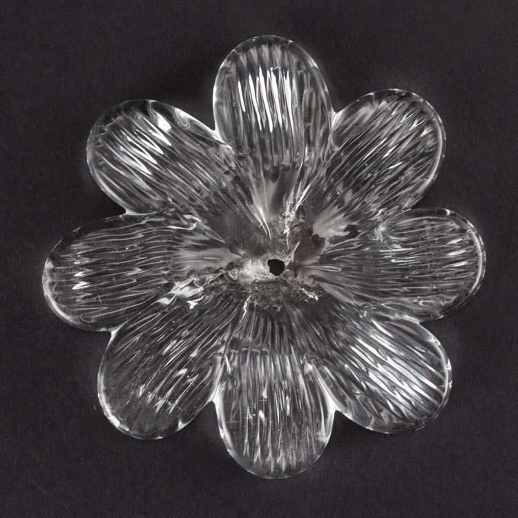 Rosellina, fiore fatto a mano in vetro di Murano cristallo Ø90 mm con foro centrale