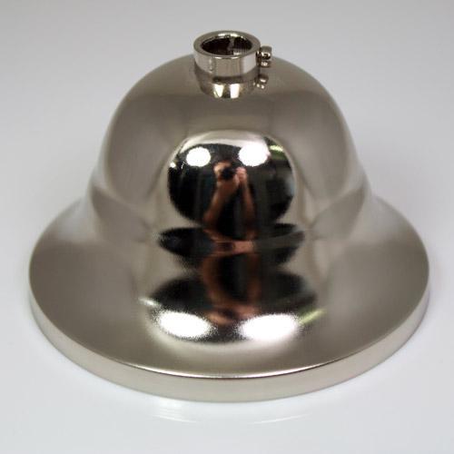 Rosone copri cavi per lampadari, metallo finitura cromata, Ø 9 cm, con collarino.