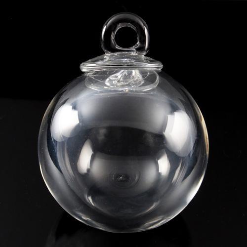 Sfera in cristallo originale di Boemia Ø78 mm fatto a mano. Pendente per restauri di lampadari antichi