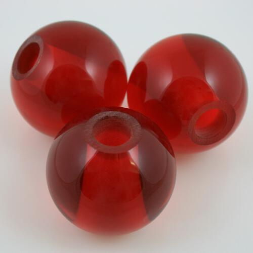 Sfera in vetro di Murano rosso in fogo, Ø50 mm, foro passante 11 mm