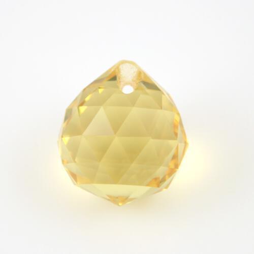 Sfera sfaccettata 20 mm vetro molato giallo