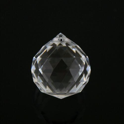 Sfera sfaccettata Ø20 mm in vetro molato color cristallo